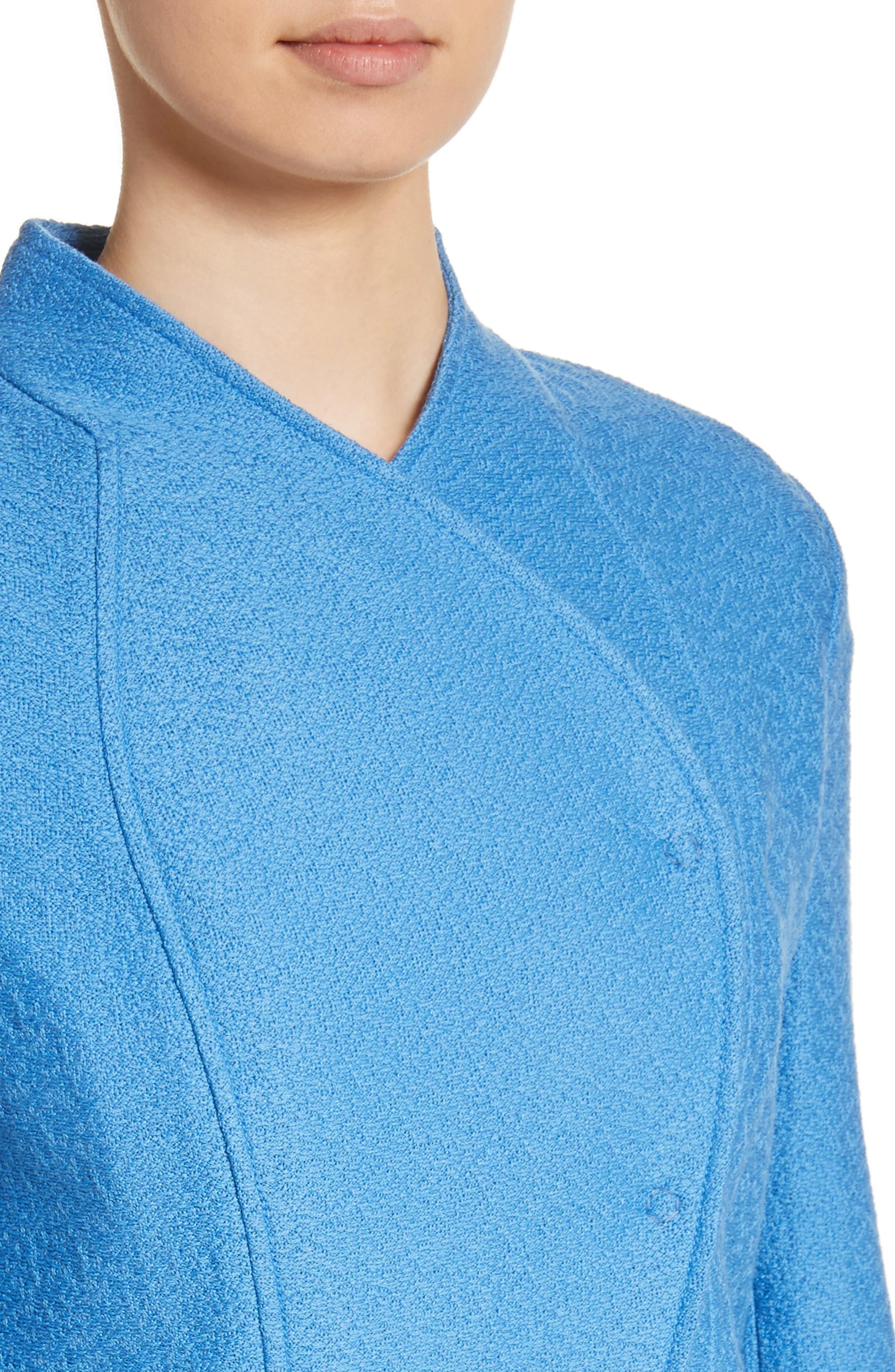 Hannah Knit Stand Collar Jacket,                             Alternate thumbnail 4, color,                             420