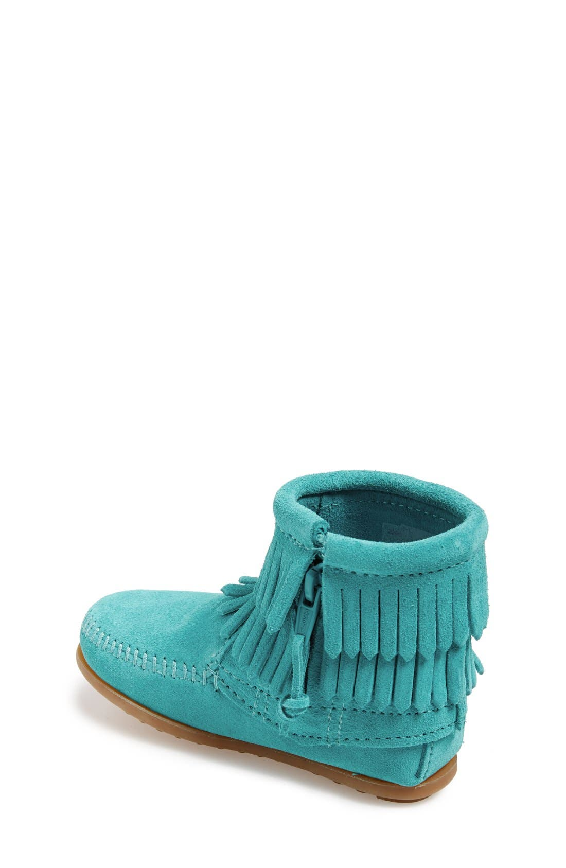 'Double Fringe' Boot,                             Alternate thumbnail 2, color,                             TURQUOISE