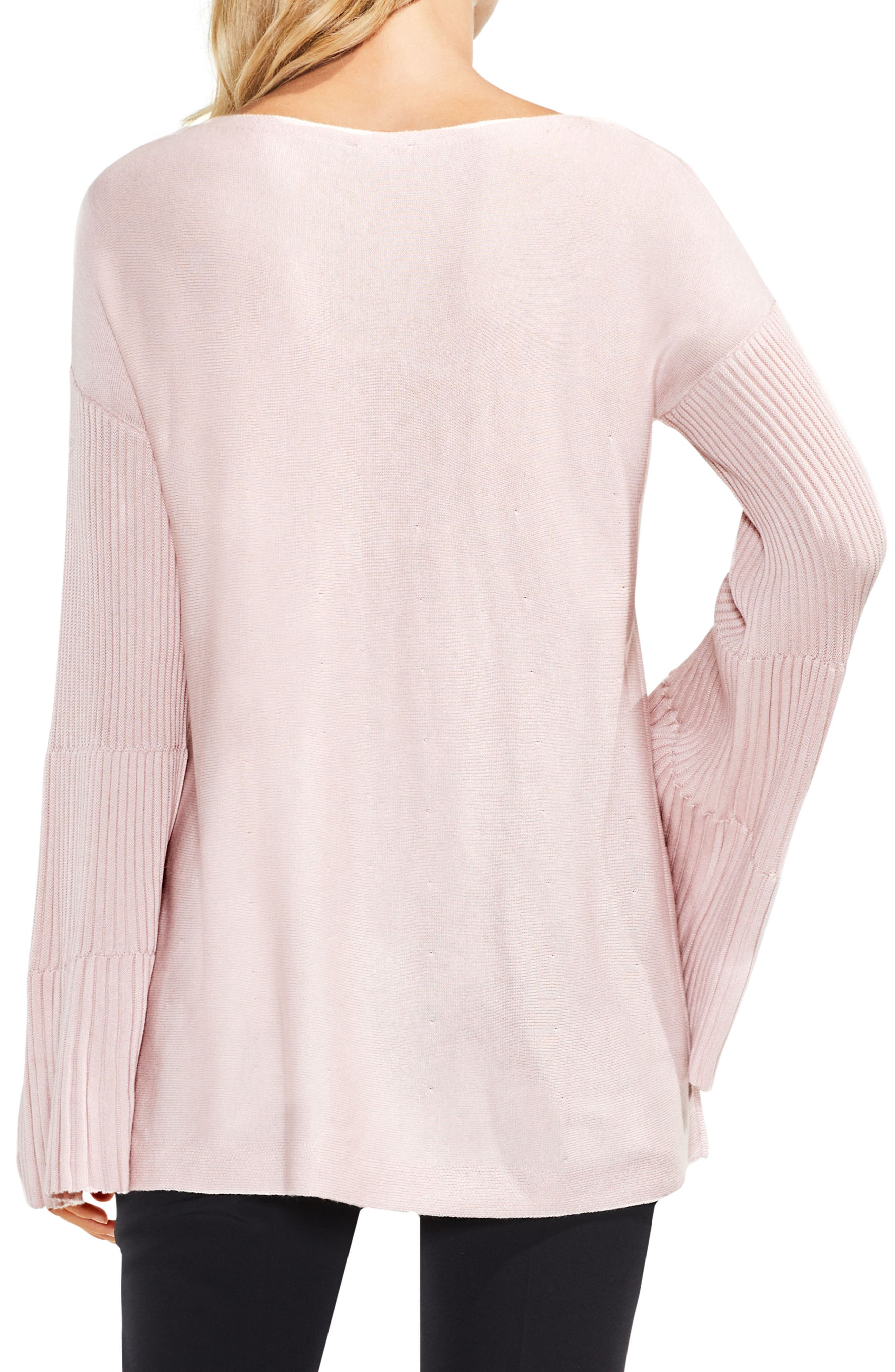 Bell Sleeve Ribbed Sweater,                             Alternate thumbnail 20, color,
