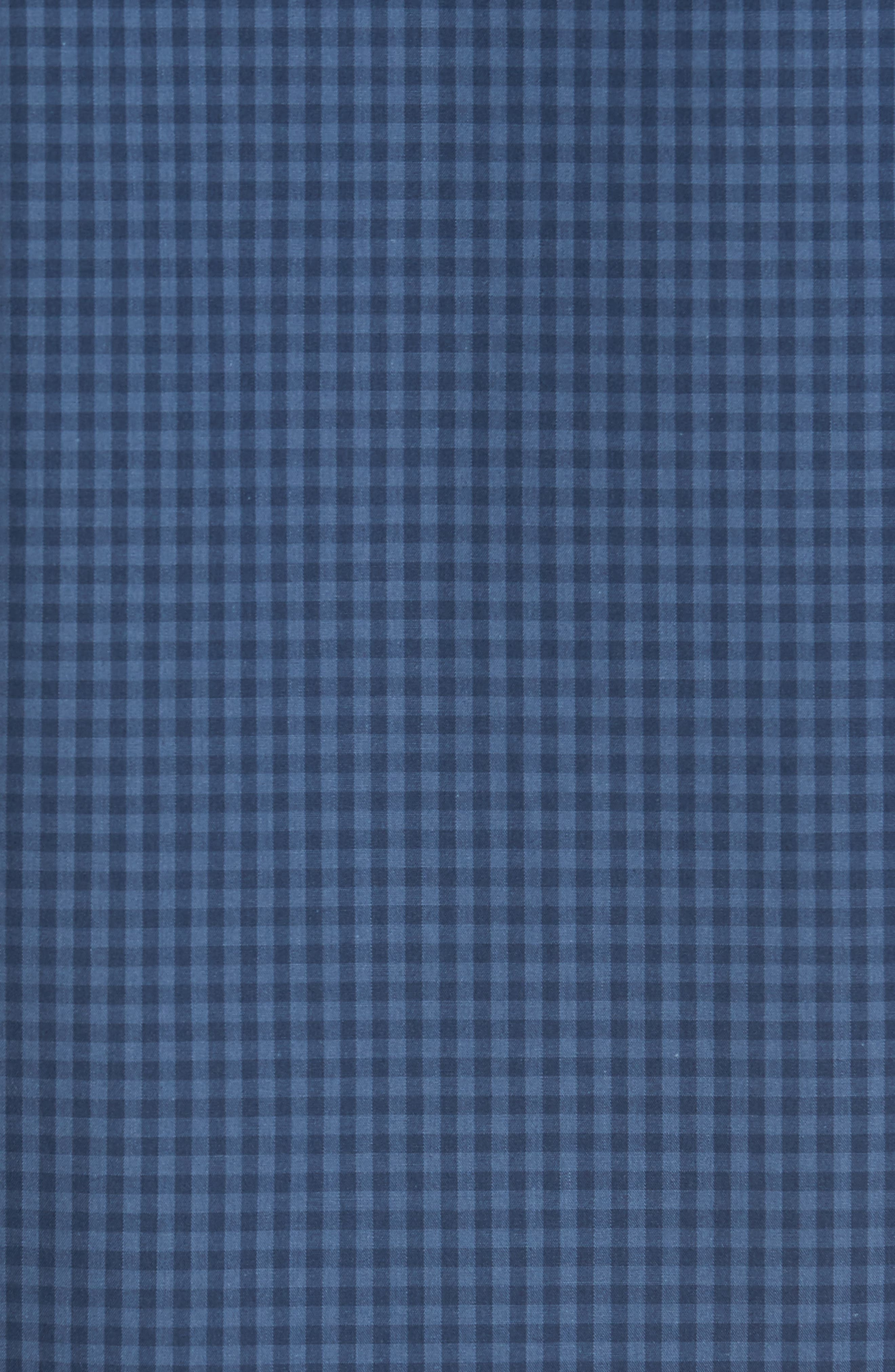 Trim Fit Non-Iron Gingham Sport Shirt,                             Alternate thumbnail 5, color,                             420