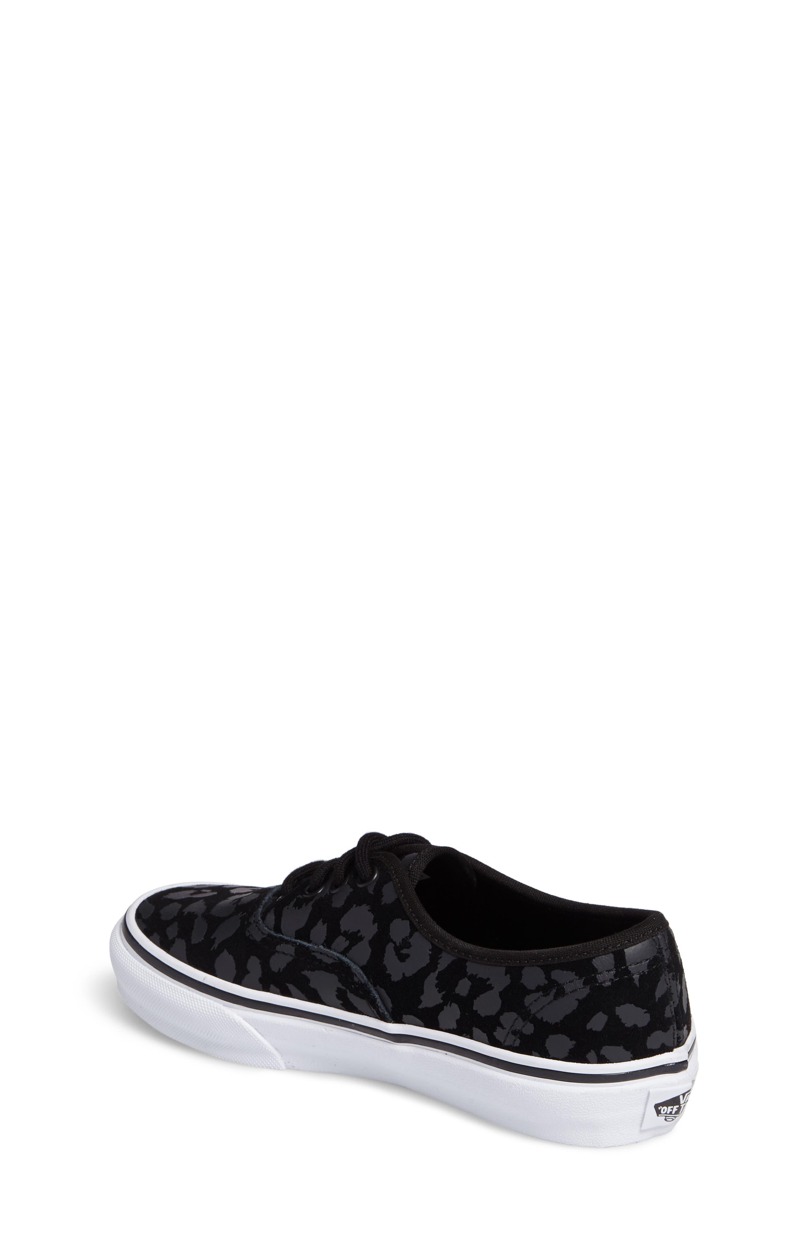 Authentic Leopard Print Sneaker,                             Alternate thumbnail 2, color,                             001