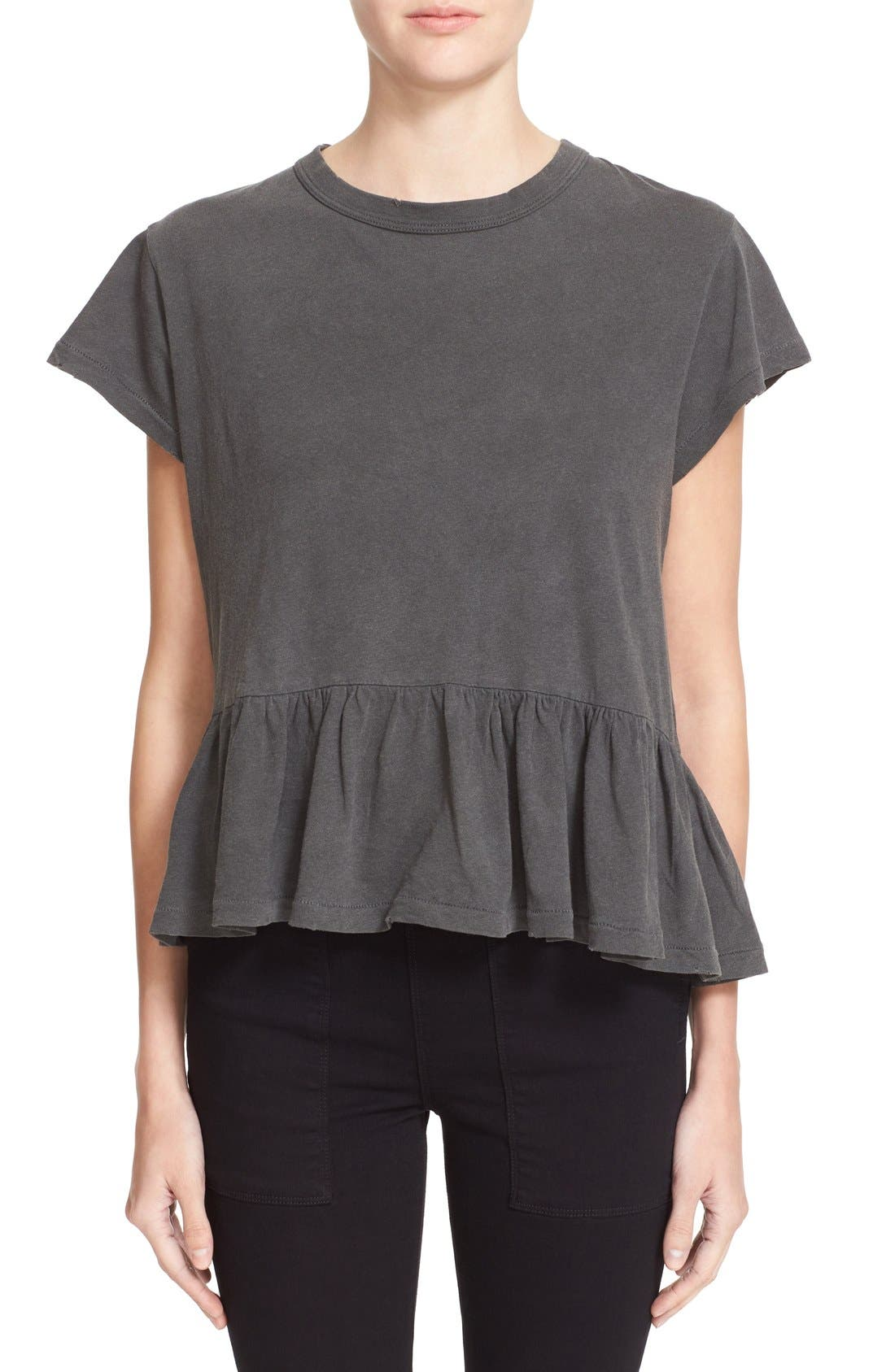 The Ruffle Tee,                             Main thumbnail 1, color,