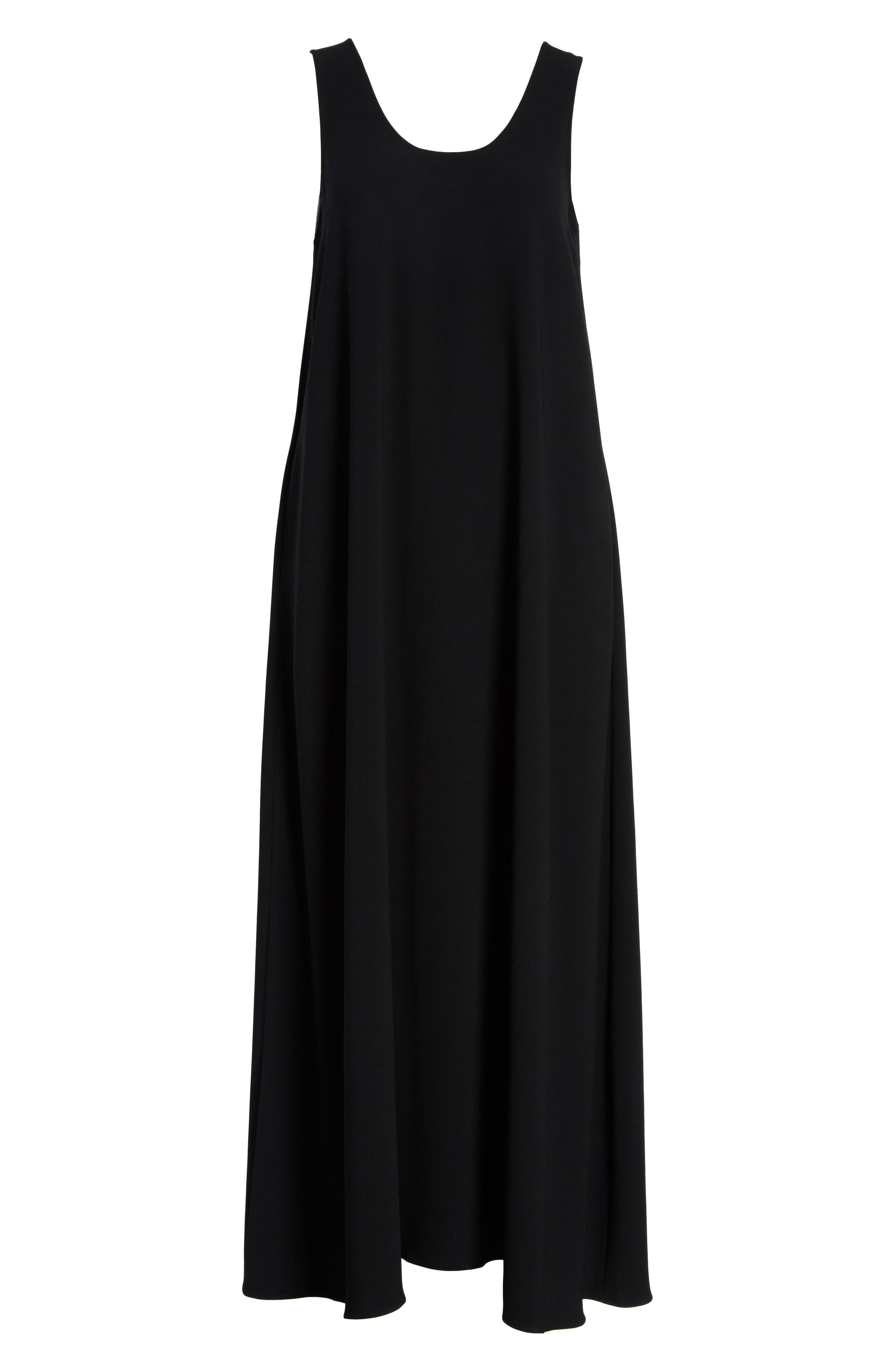 Sleeveless Maxi Dress,                             Alternate thumbnail 6, color,                             001