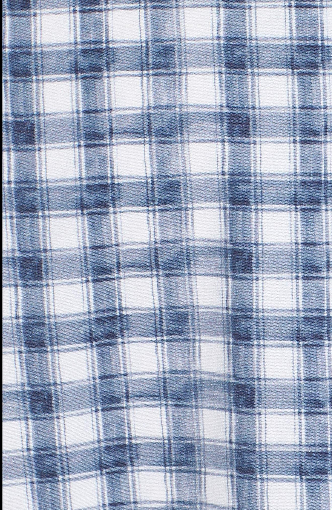 Watercolor Slim Fit Stretch Short Sleeve Sport Shirt,                             Alternate thumbnail 5, color,                             020