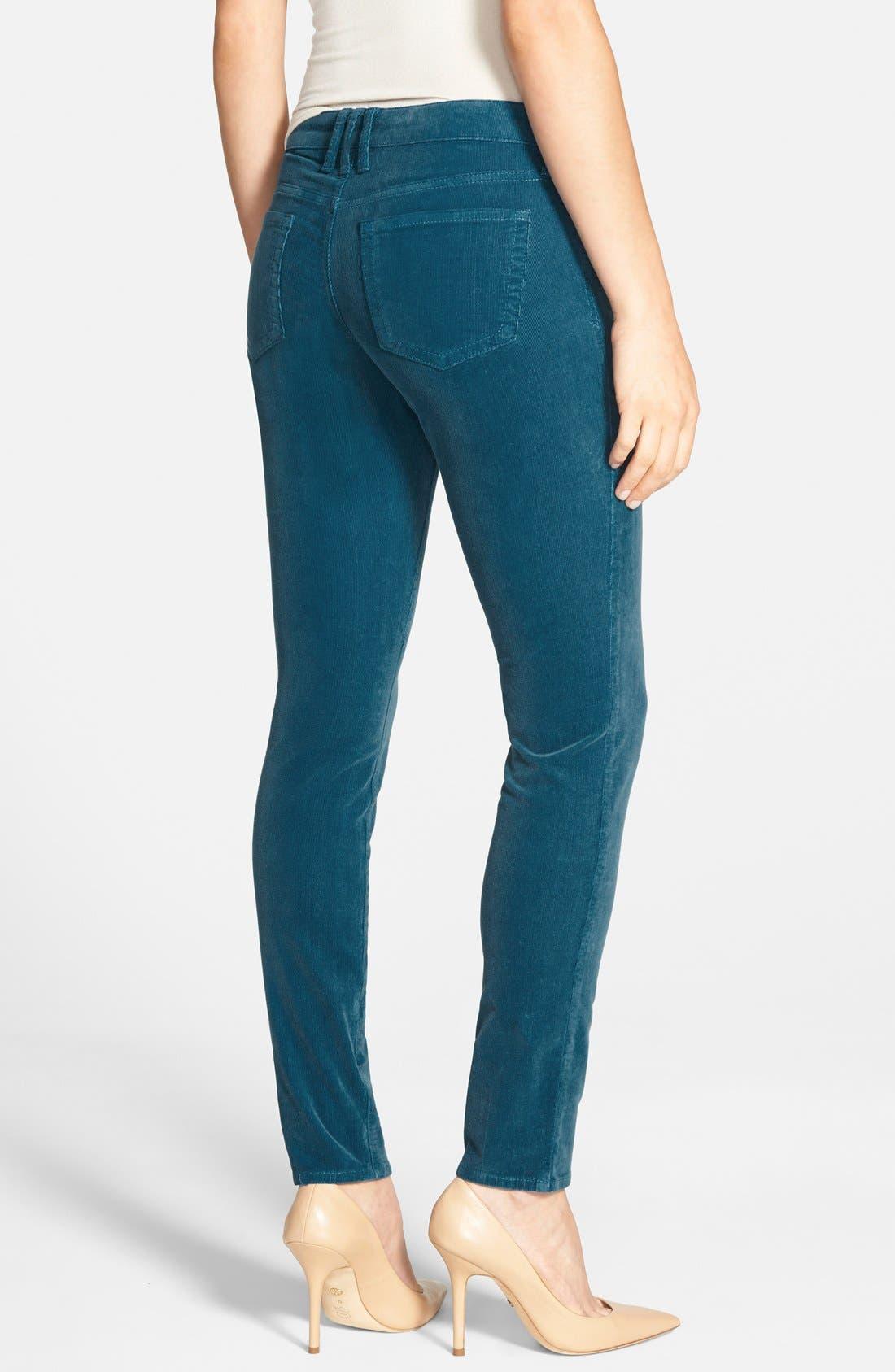 'Diana' Stretch Corduroy Skinny Pants,                             Alternate thumbnail 87, color,