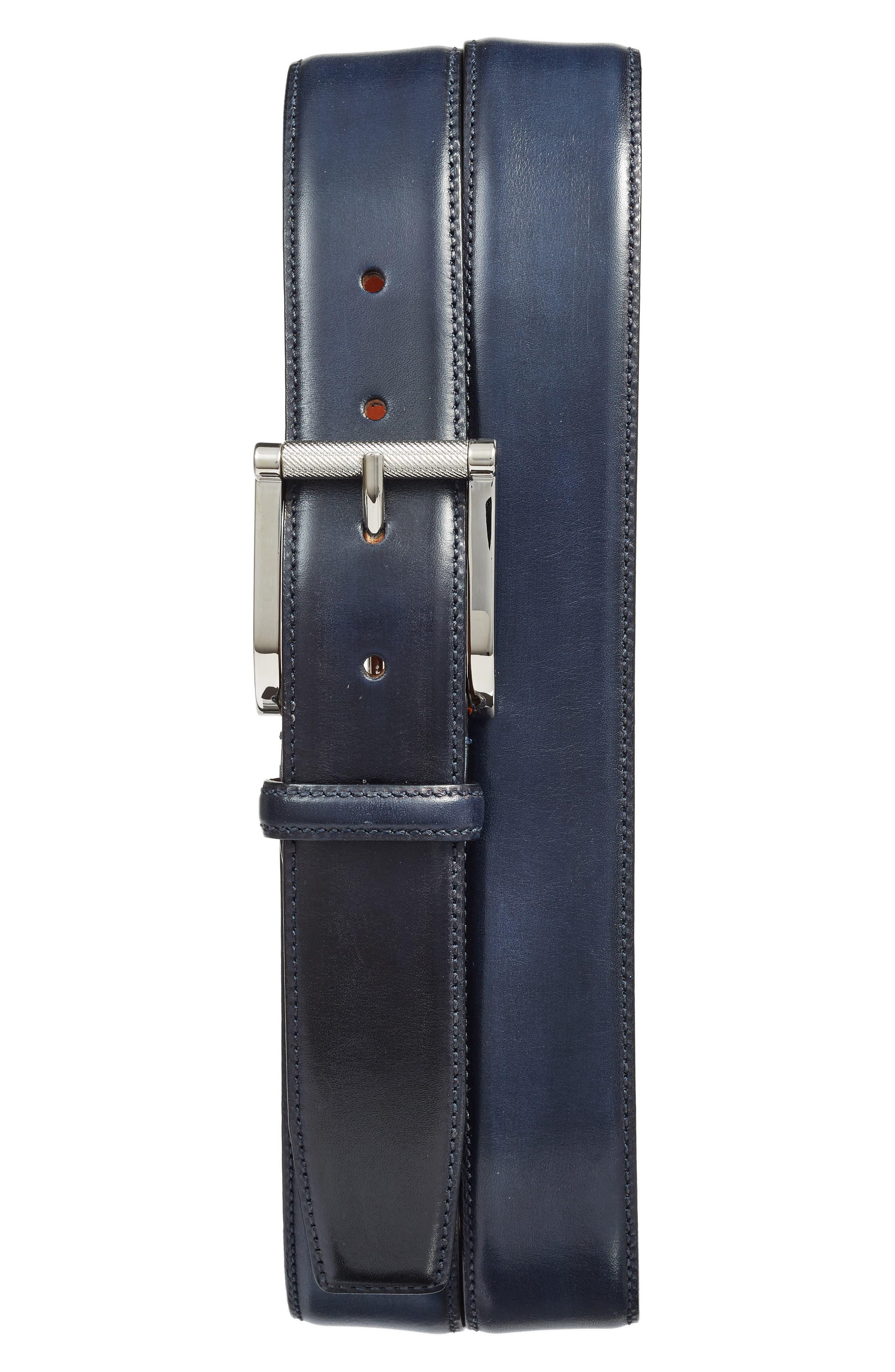 Leather Belt,                         Main,                         color, 410