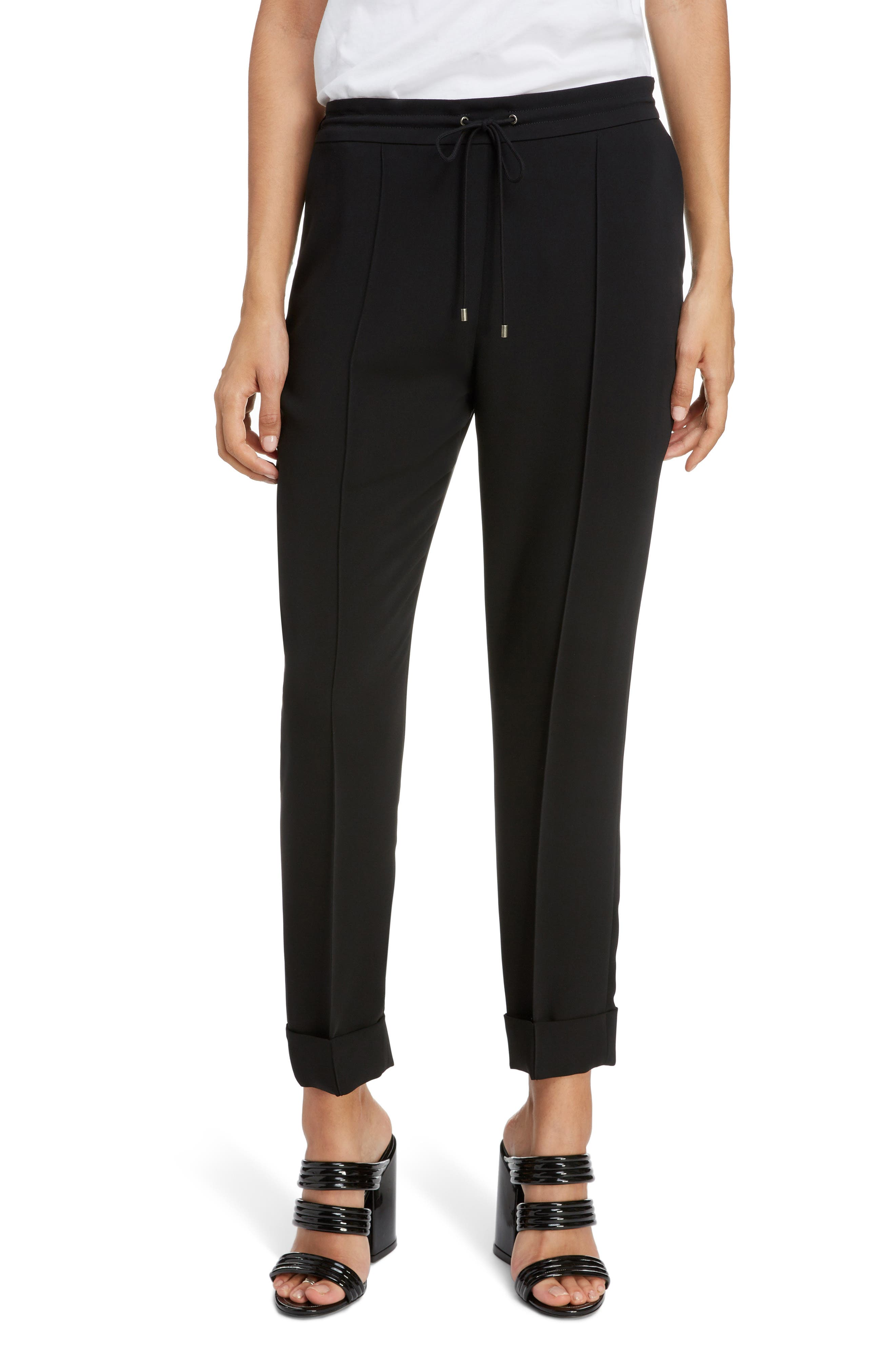 Tailored Joggers,                             Main thumbnail 1, color,                             BLACK