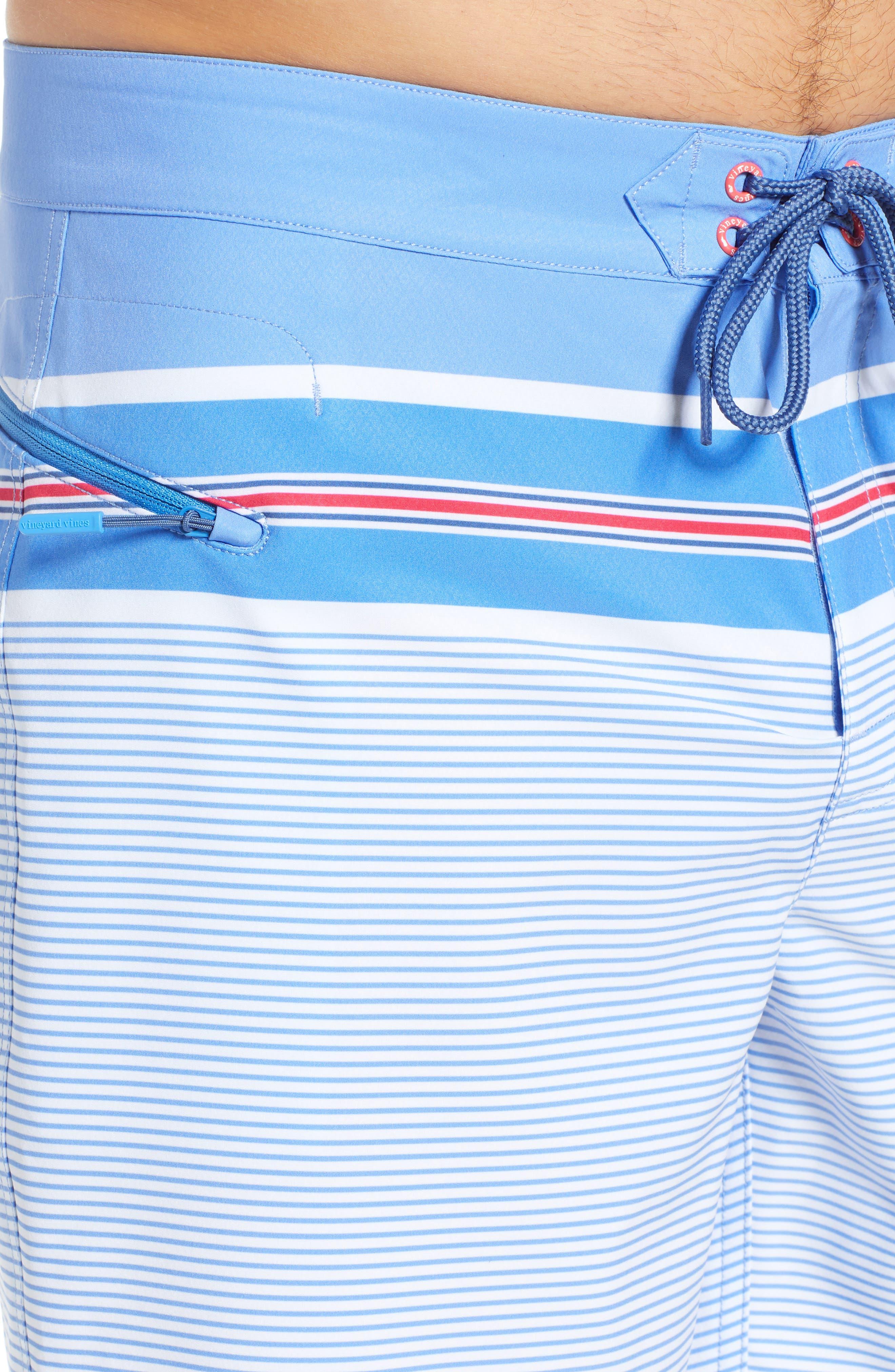 VINEYARD VINES,                             Birchcliff Stripe Board Shorts,                             Alternate thumbnail 4, color,                             484
