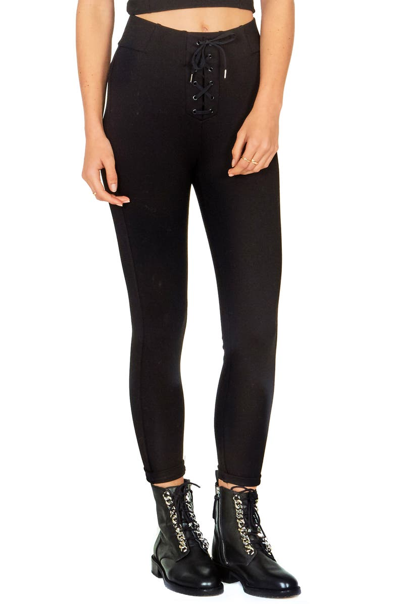 Amuse Society MIDDLE OF THE ROAD LACE-UP PANTS