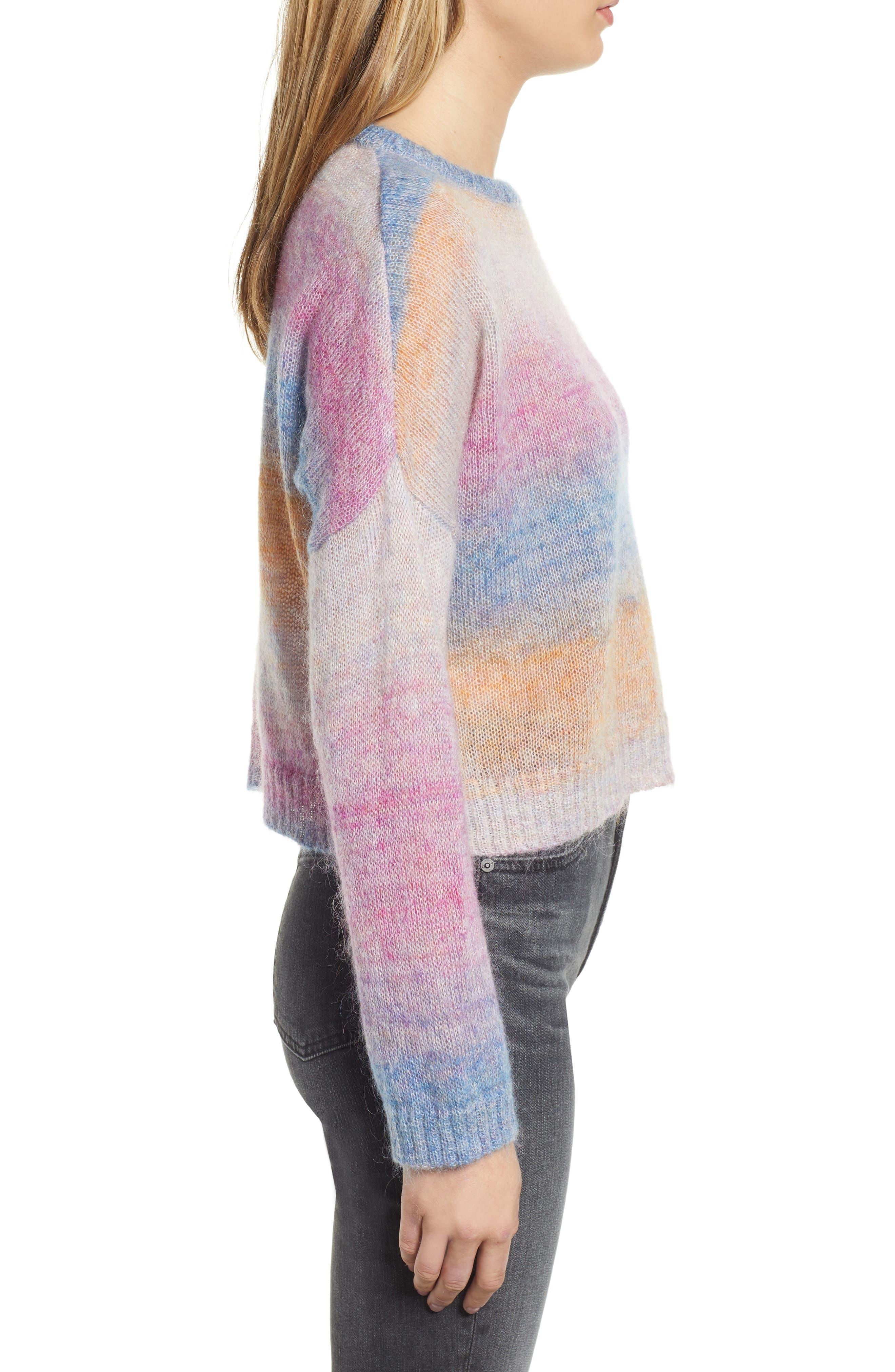Camille Stripe Sweater,                             Alternate thumbnail 4, color,                             RAINBOW