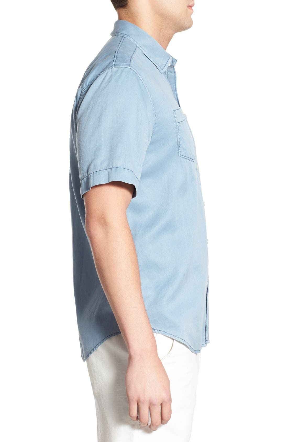'New Twilly' Island Modern Fit Short Sleeve Twill Shirt,                             Alternate thumbnail 38, color,