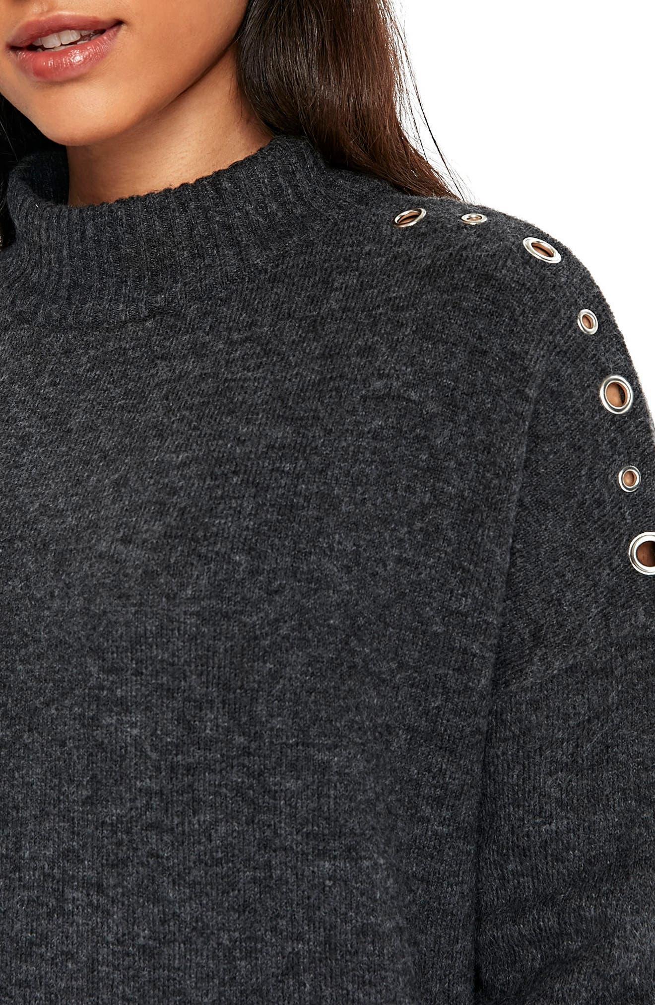 Eyelet Shoulder Knit Tunic,                             Alternate thumbnail 3, color,                             021