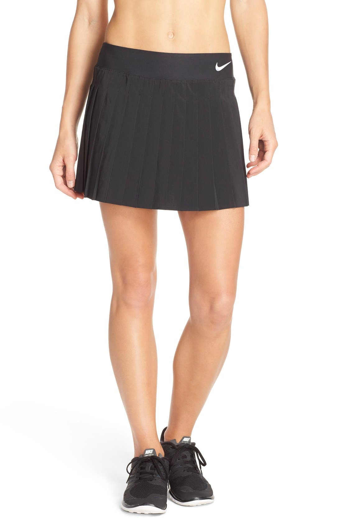 'Victory' Pleat Dri-FIT Tennis Skirt,                             Main thumbnail 6, color,