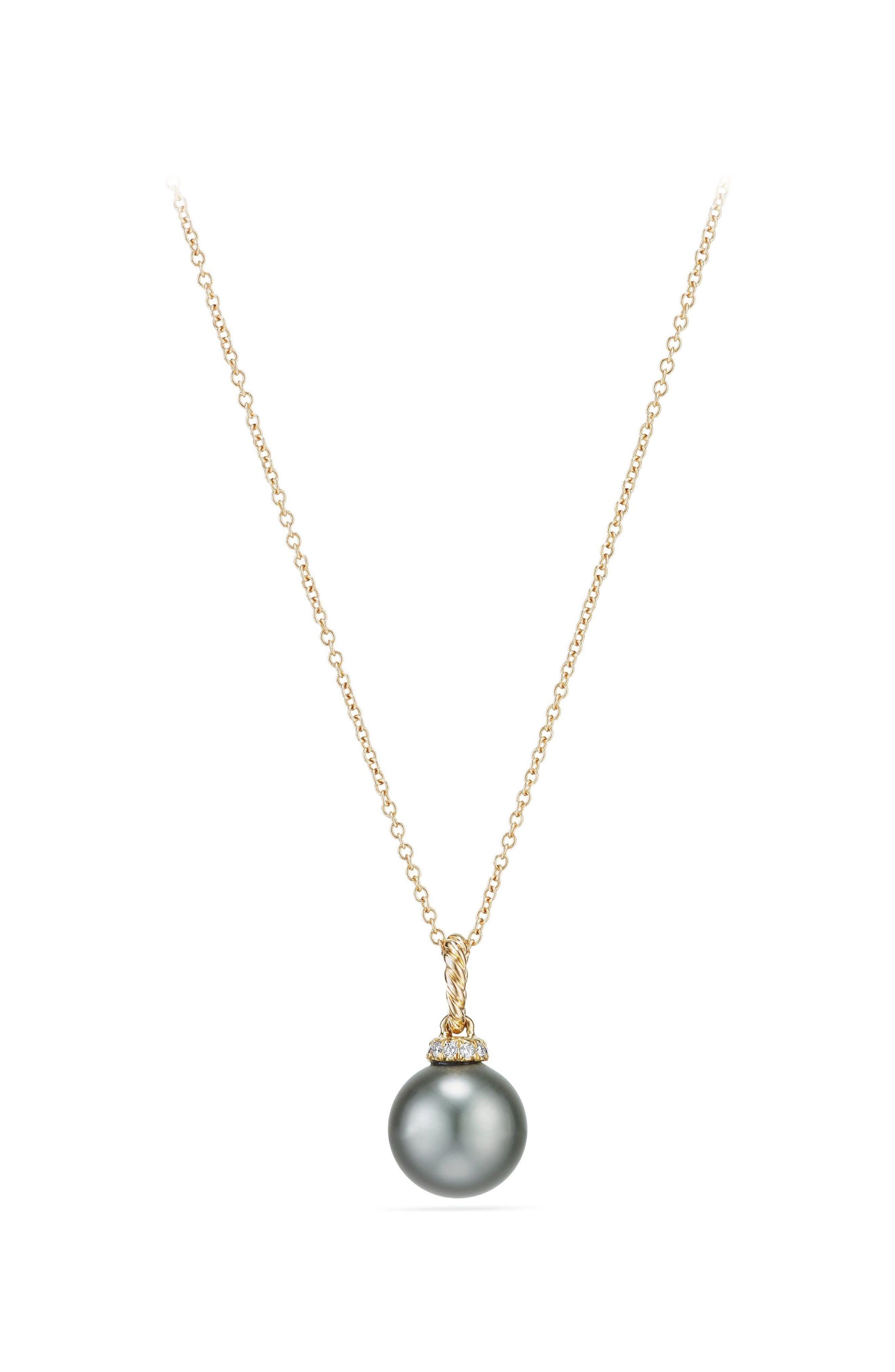 Solari Pendant Necklace with Diamonds,                         Main,                         color, GOLD/ DIAMOND/ GREY PEARL