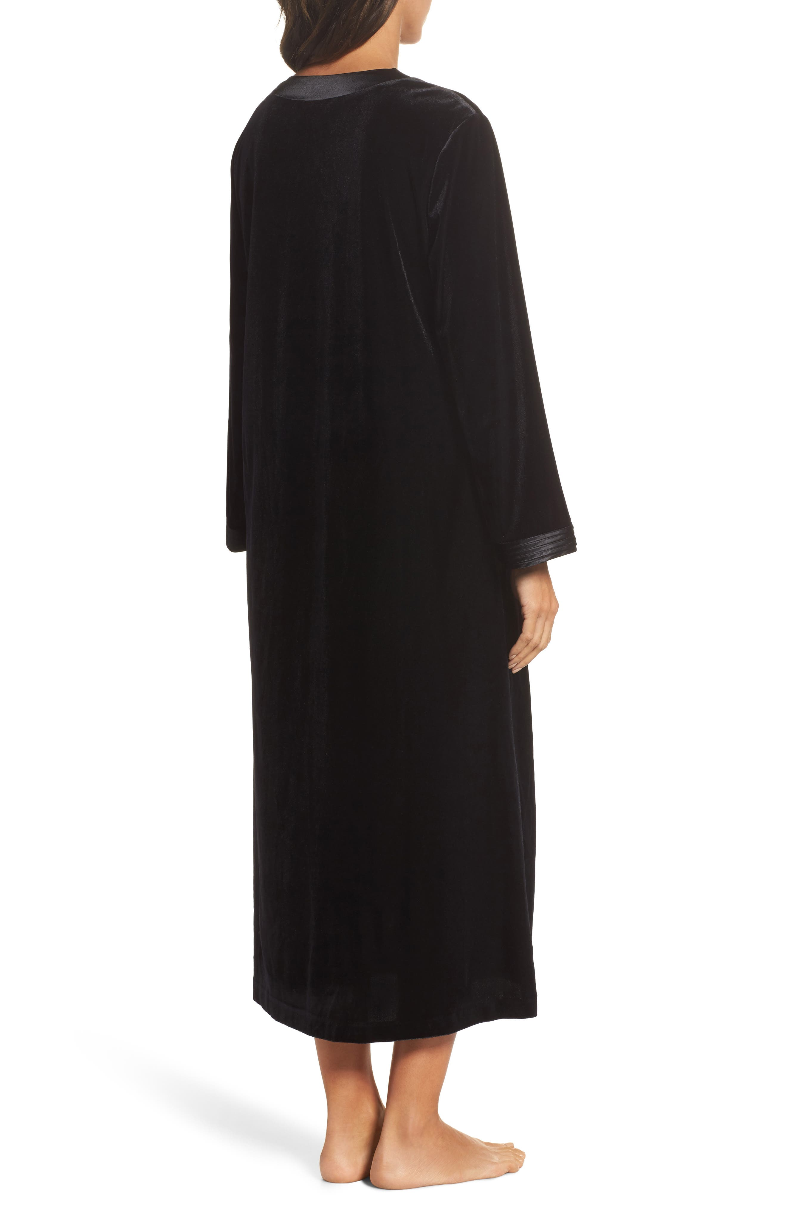 Sleepwear Velvet Caftan,                             Alternate thumbnail 2, color,                             001