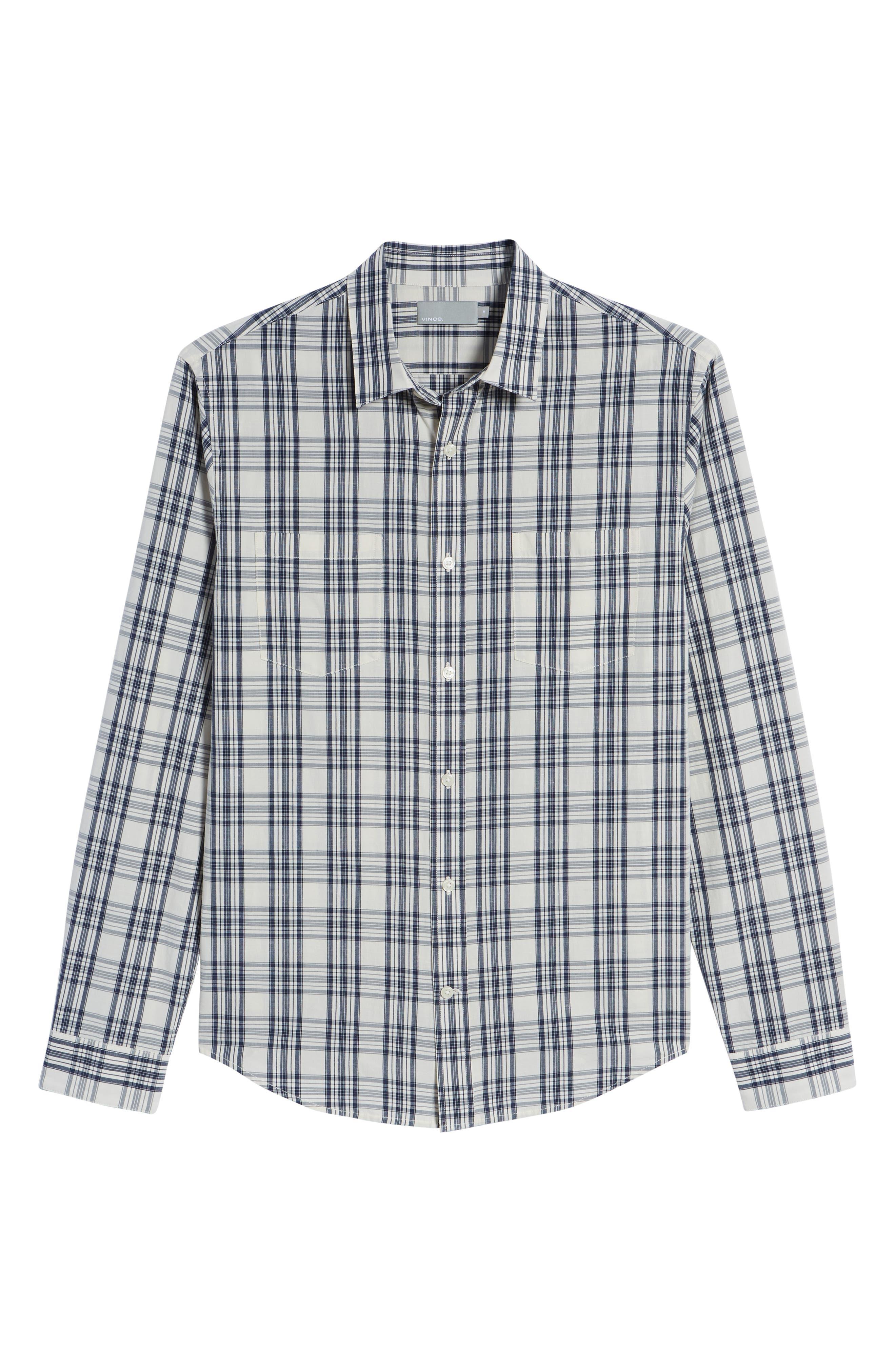 Slim Fit Plaid Sport Shirt,                             Alternate thumbnail 12, color,