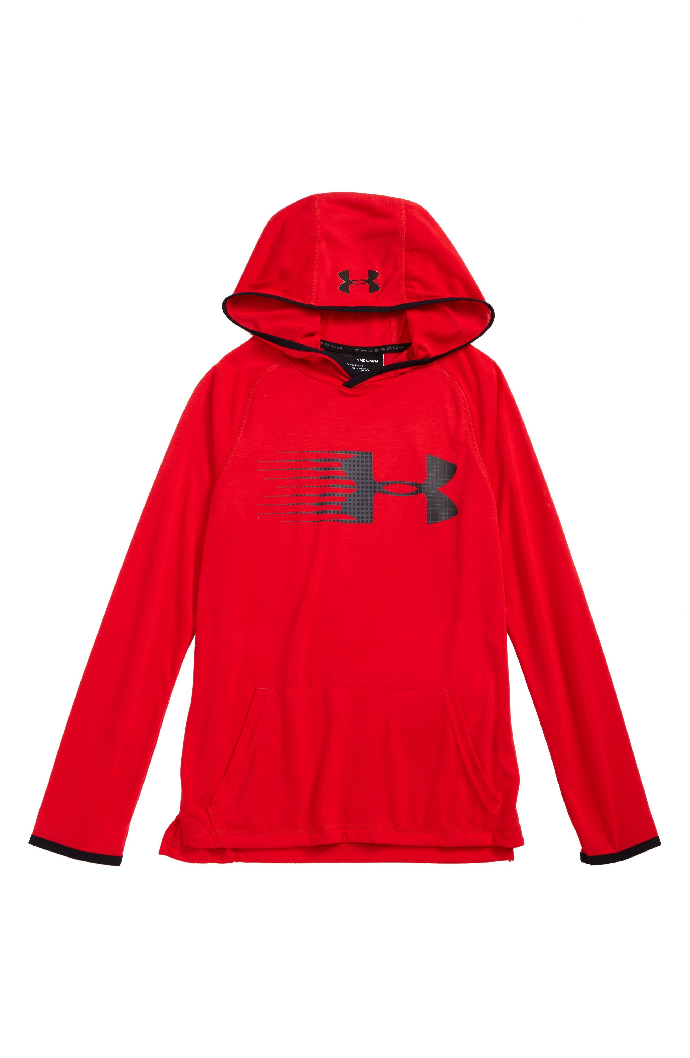 Threadborne HeatGear<sup>®</sup> Pullover Hoodie,                             Main thumbnail 4, color,