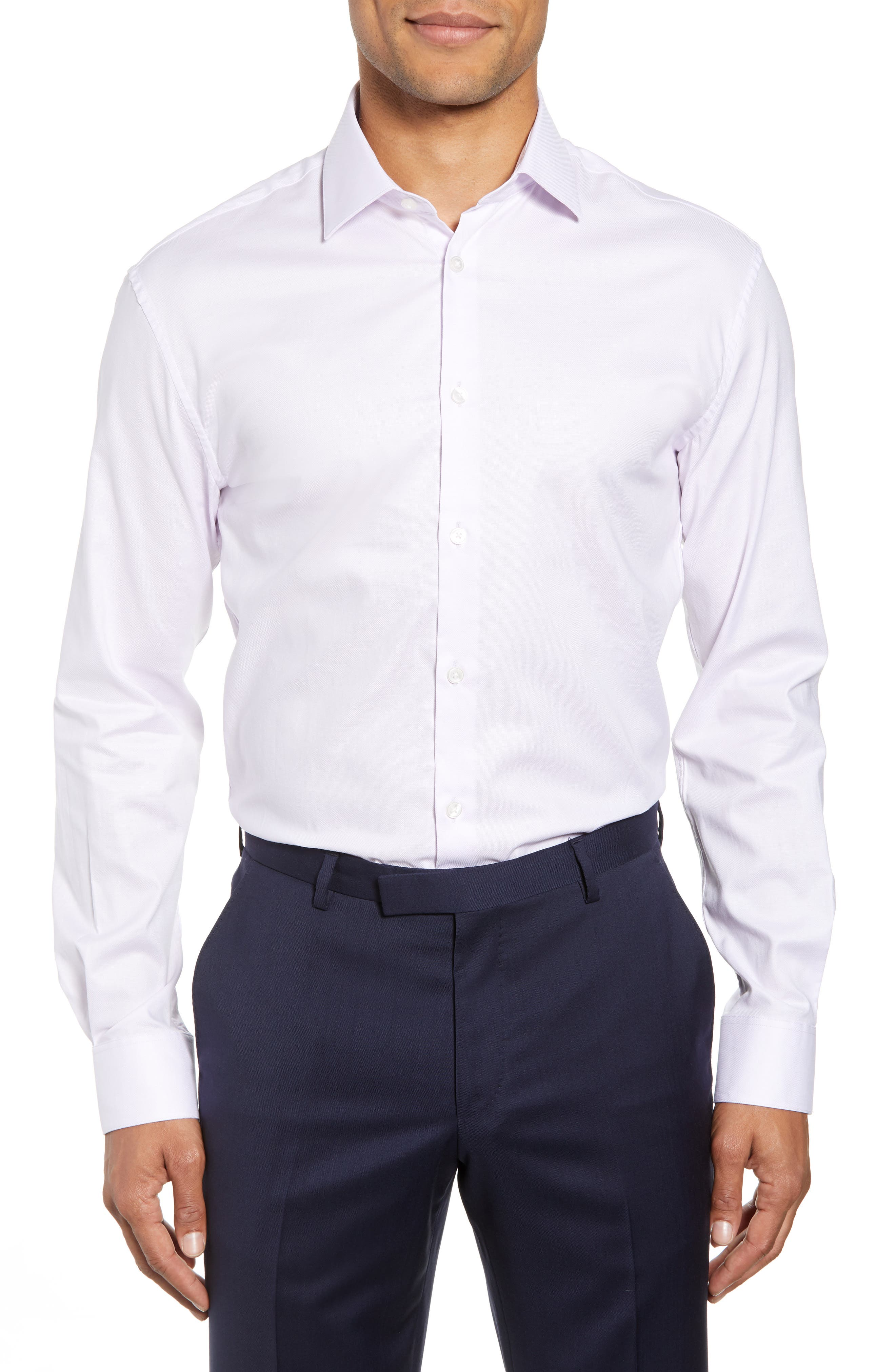 Slim Fit Check Dress Shirt,                         Main,                         color, PINK HAZE