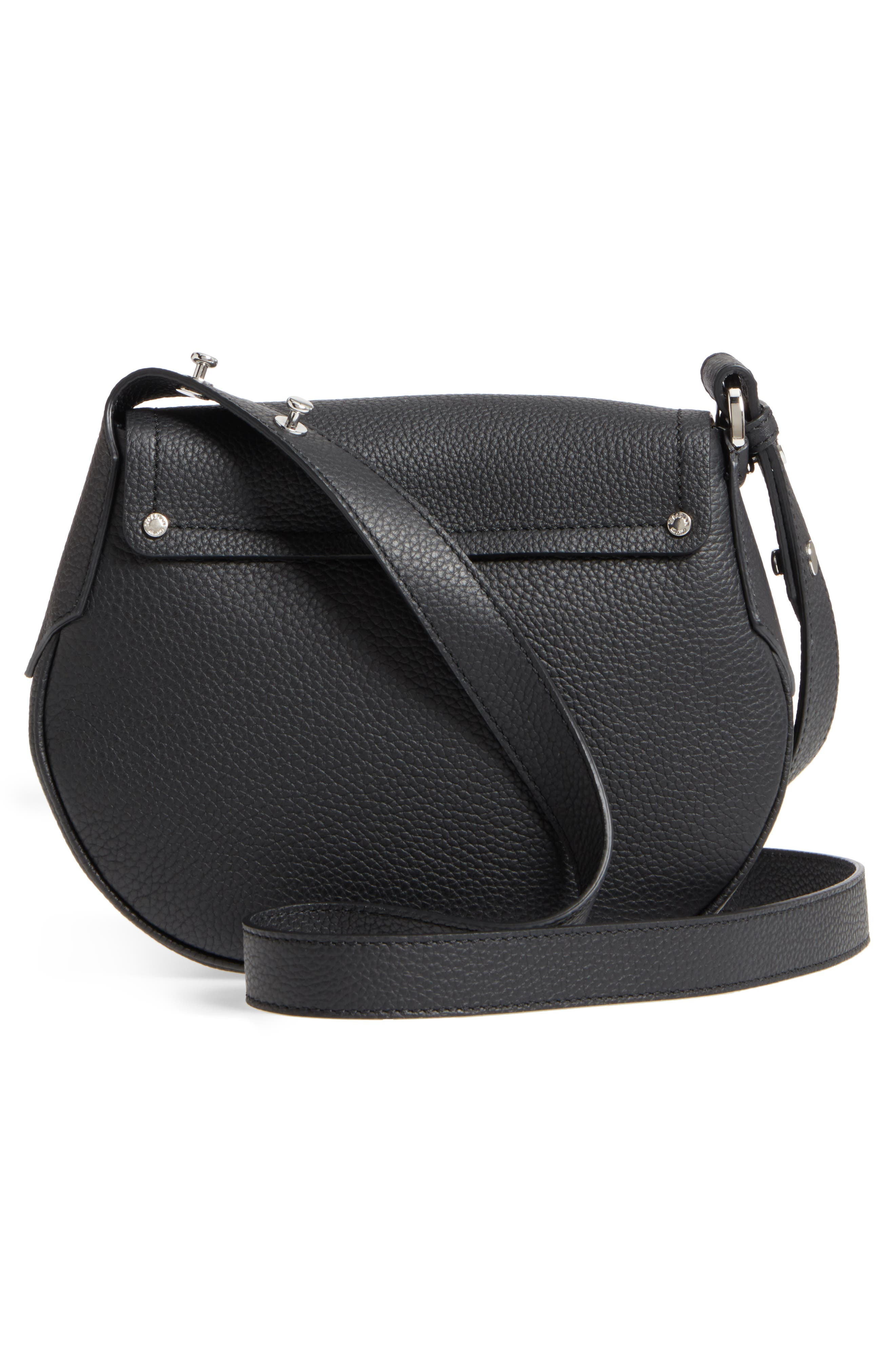 Mini Valeria Cachemire Leather Crossbody Bag,                             Alternate thumbnail 3, color,                             001