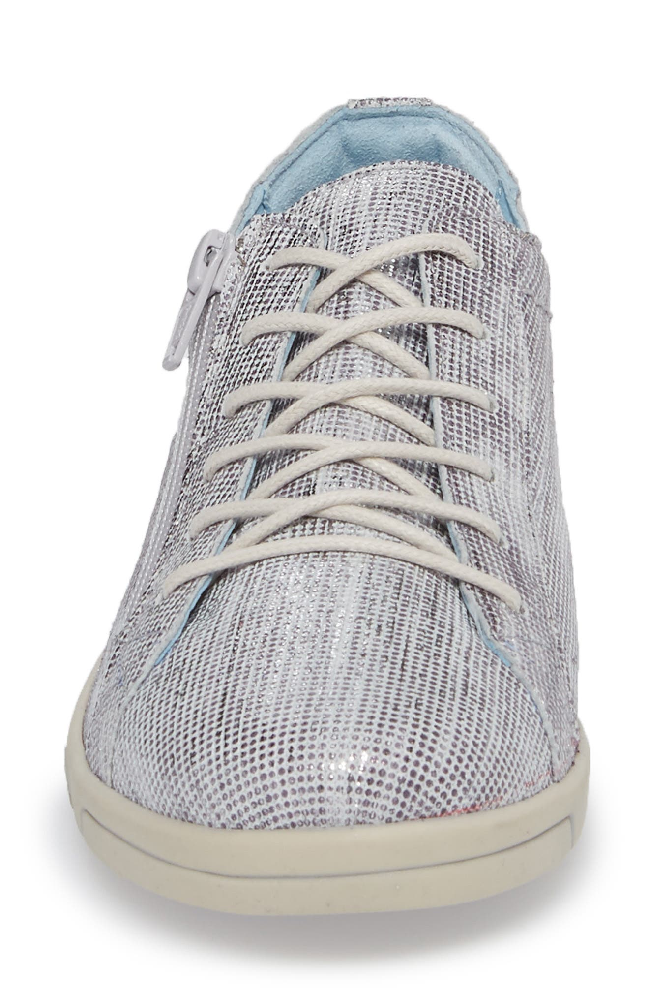 Aika Dunkan Sneaker,                             Alternate thumbnail 4, color,                             GREY LEATHER
