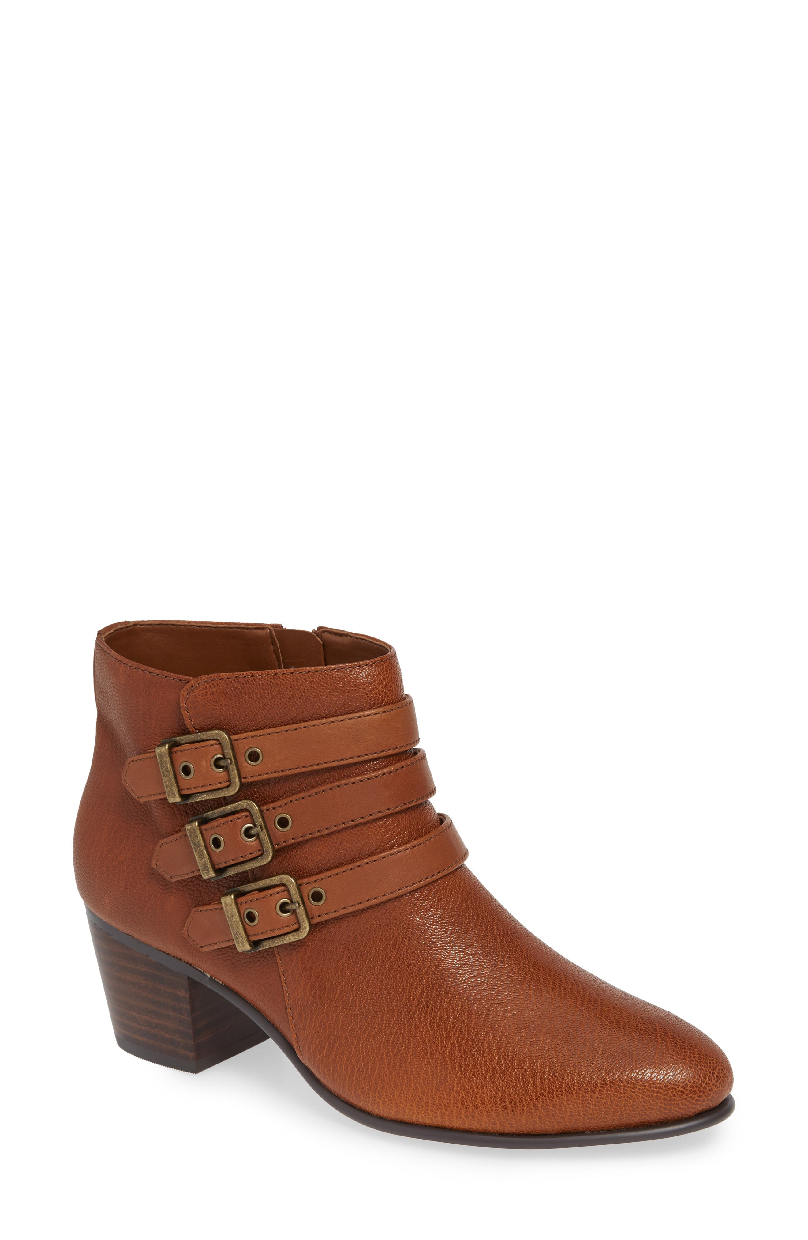 Maypearl Rayna Boot,                         Main,                         color, DARK TAN LEATHER
