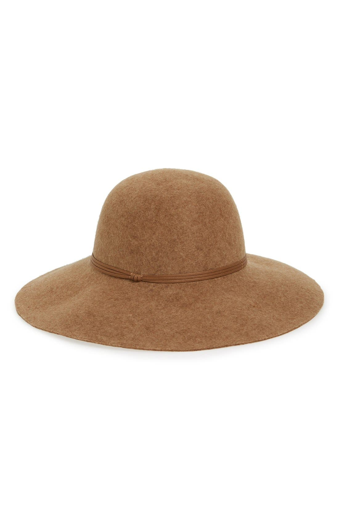 Floppy Wool Hat,                             Main thumbnail 4, color,