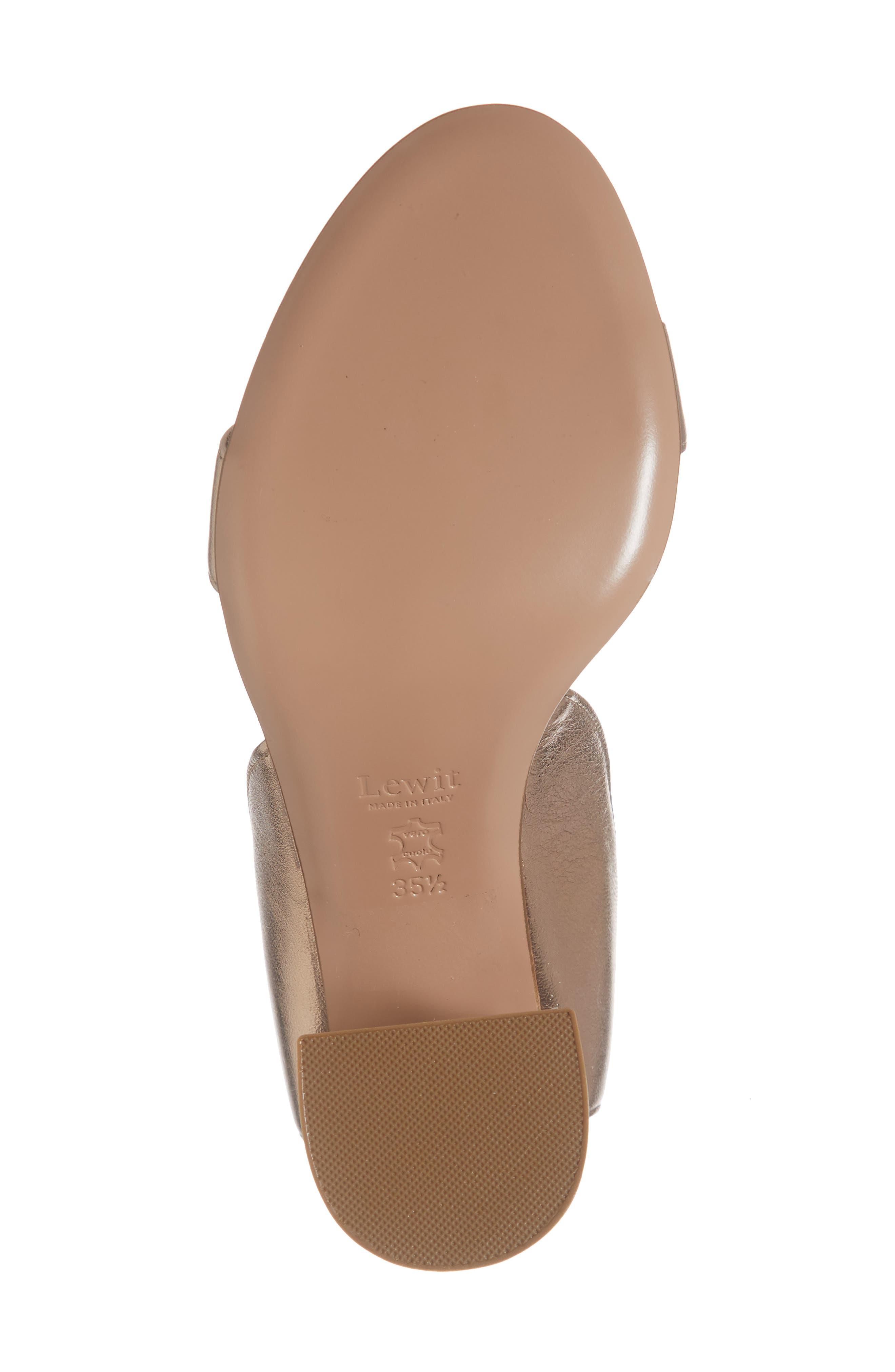 Guilia Block Heel Sandal,                             Alternate thumbnail 6, color,                             BRONZE LEATHER
