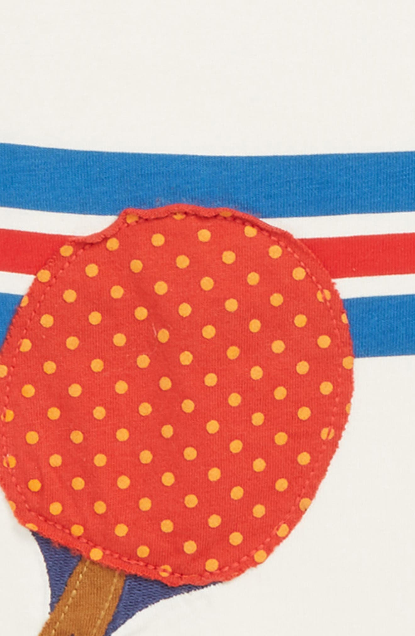 Stripy Ping Pong Sports T-Shirt,                             Alternate thumbnail 2, color,                             MINI ECRU