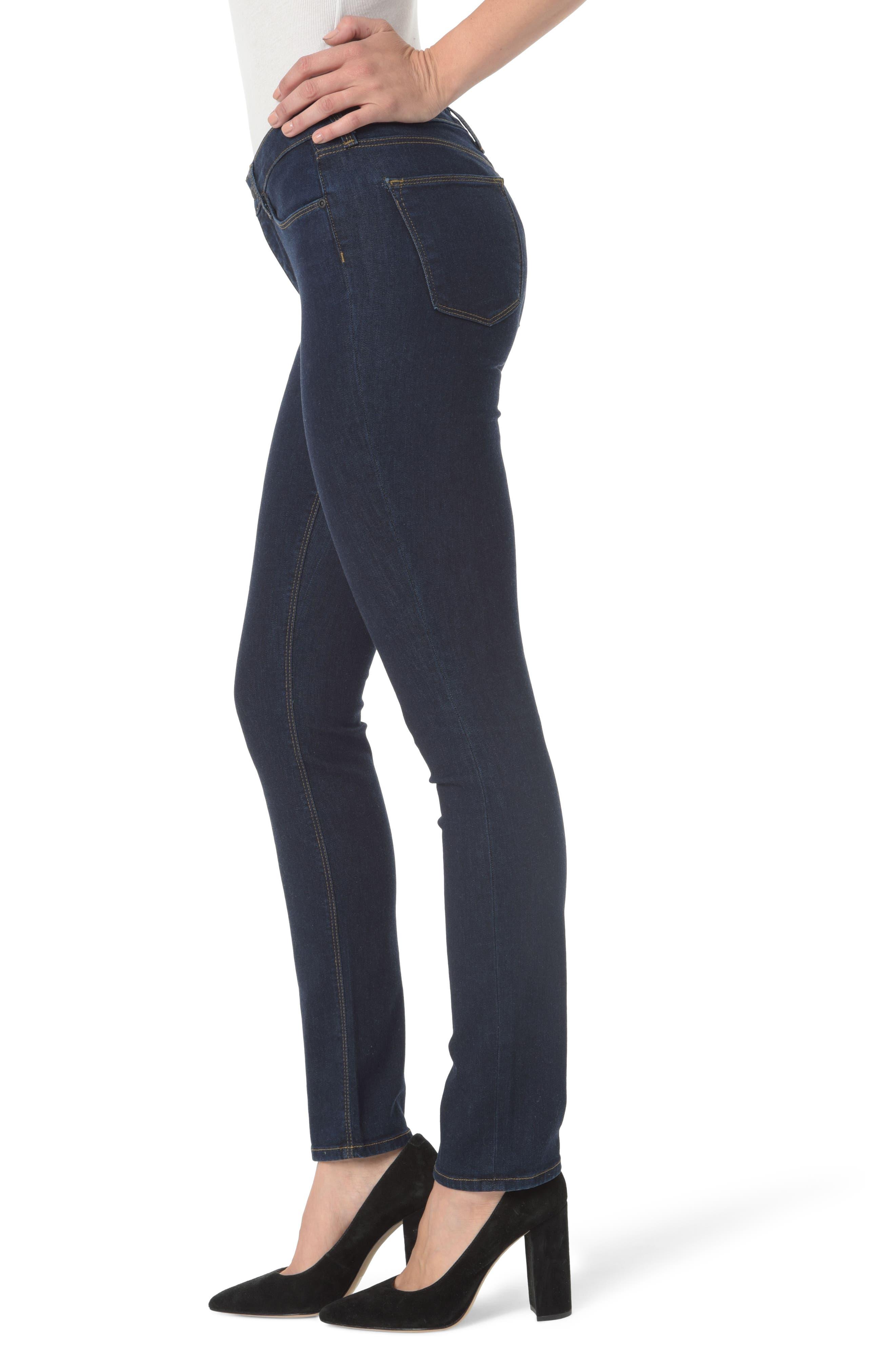 Parker High Waist Stretch Slim Leg Jeans,                             Alternate thumbnail 3, color,                             408