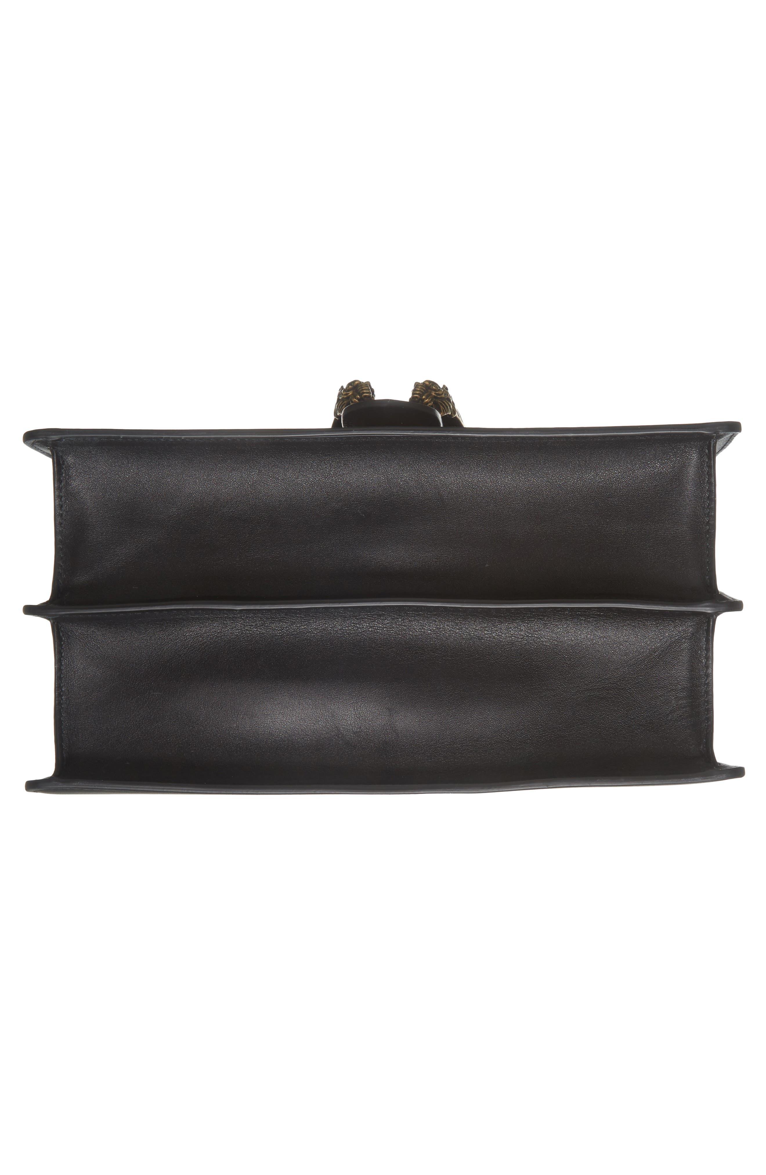 Large Dionysus Top Handle Leather Shoulder Bag,                             Alternate thumbnail 6, color,                             001