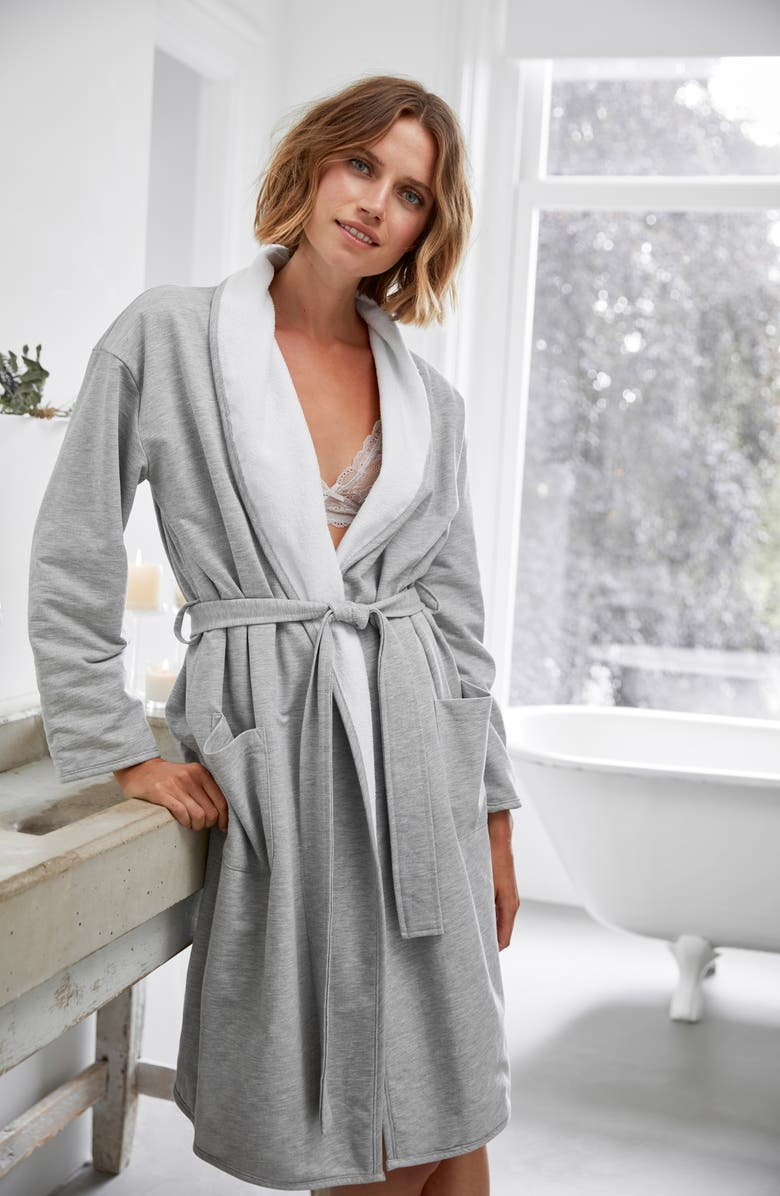 The White Company Double Face Jersey Robe | Nordstrom