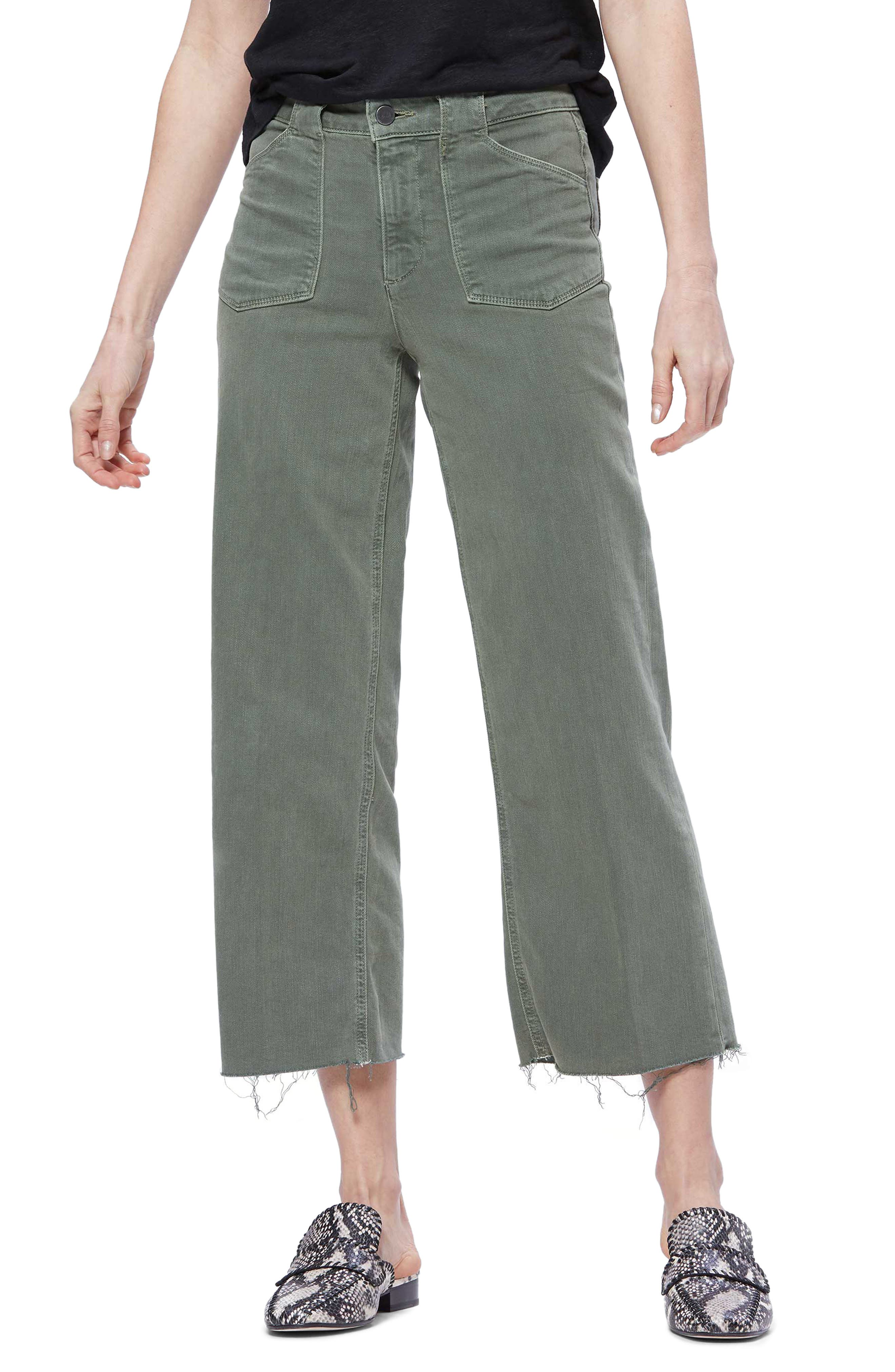 Women's Paige Nellie Utility Detail Raw Hem Jeans