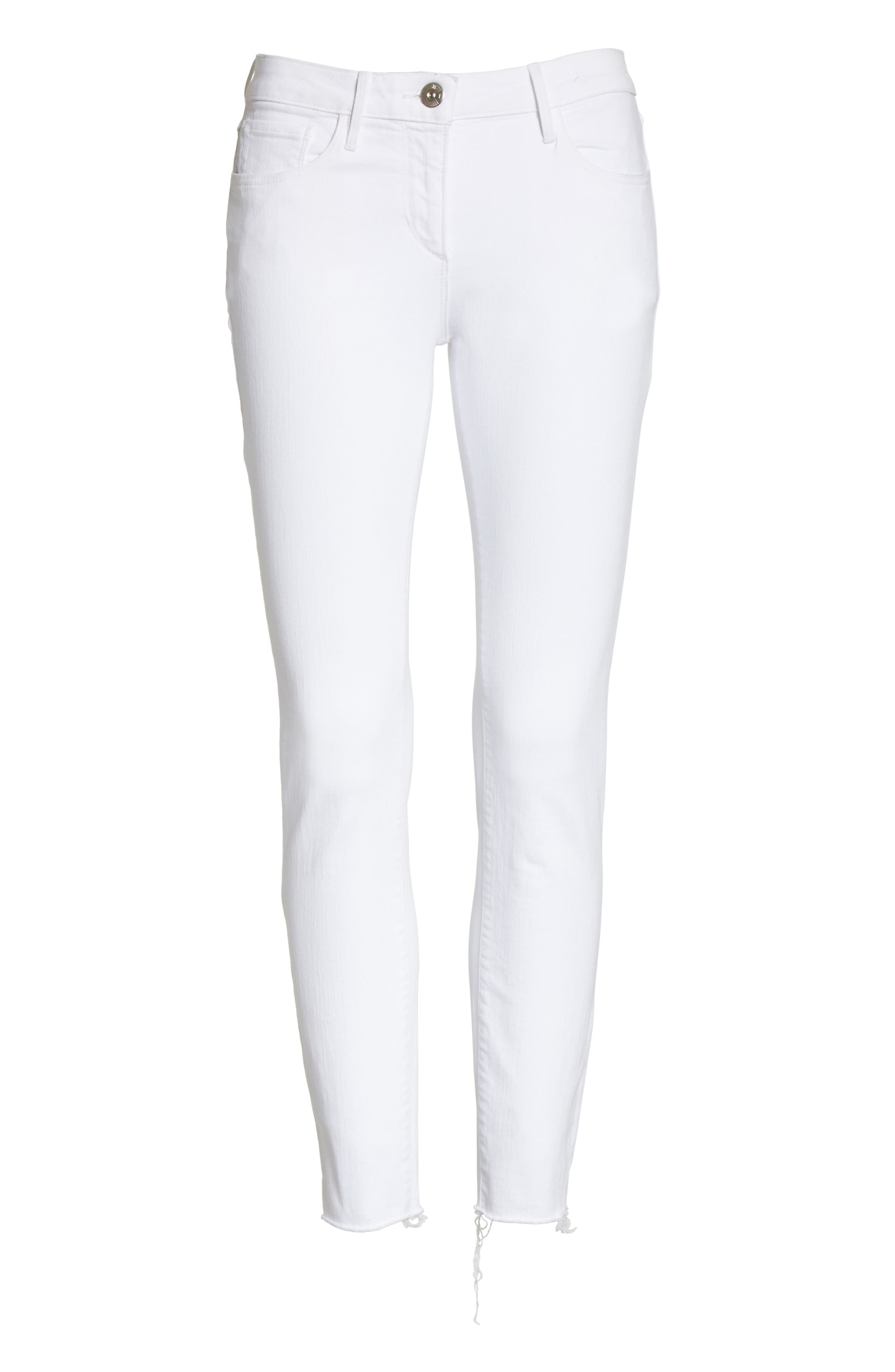 W2 Crop Skinny Jeans,                             Alternate thumbnail 6, color,                             100