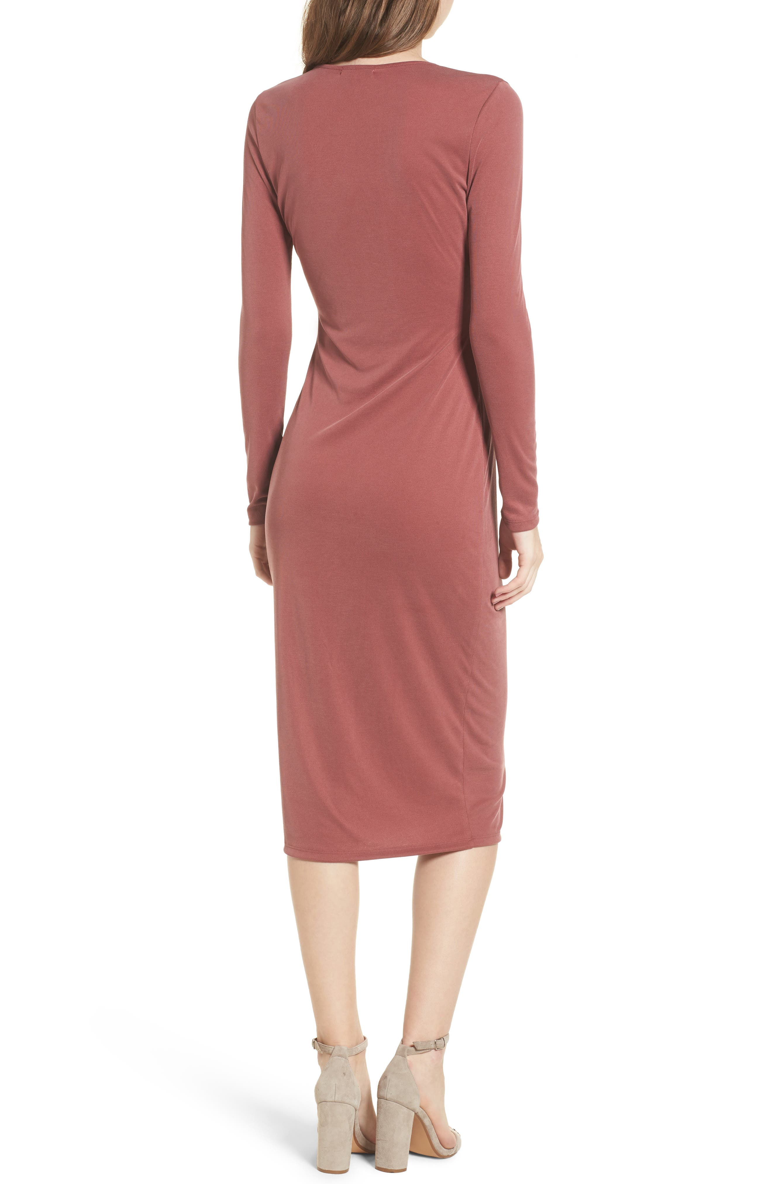 Snap Front Henley Dress,                             Alternate thumbnail 6, color,