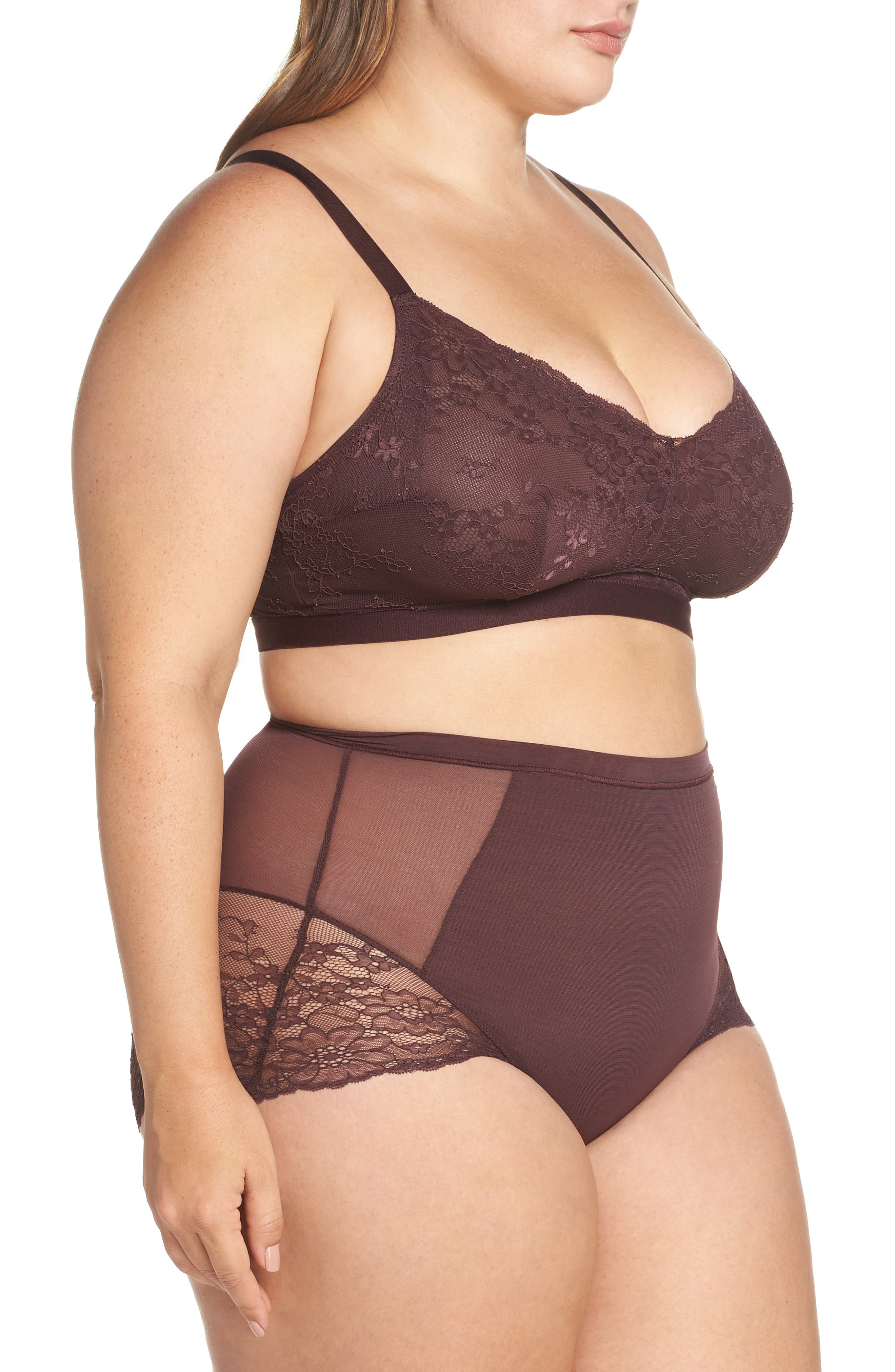 Spotlight On Lace Bralette,                             Alternate thumbnail 11, color,                             GARNET