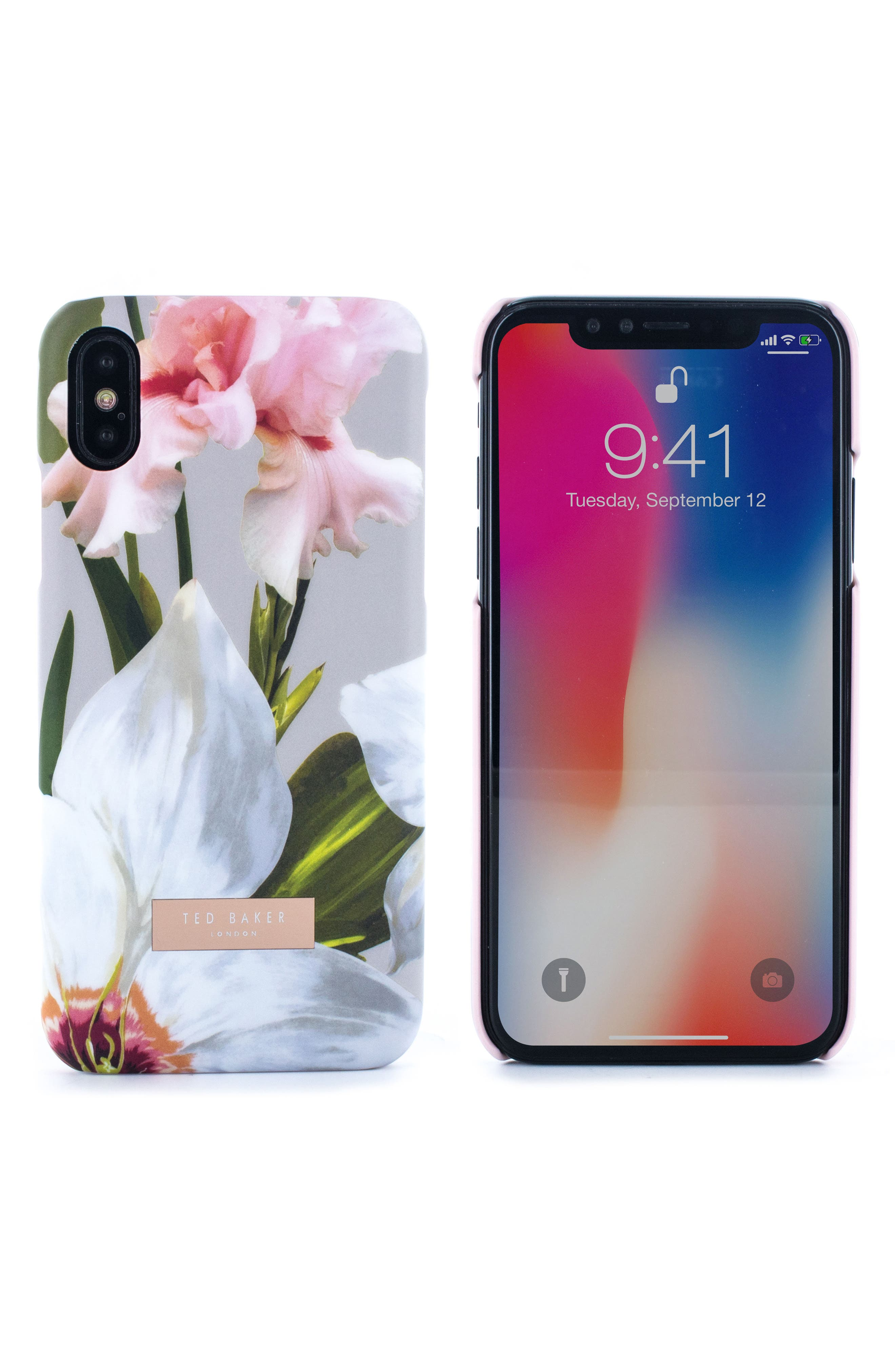 Sid Chatsworth Bloom iPhone X & Xs Case,                             Main thumbnail 1, color,                             GREY