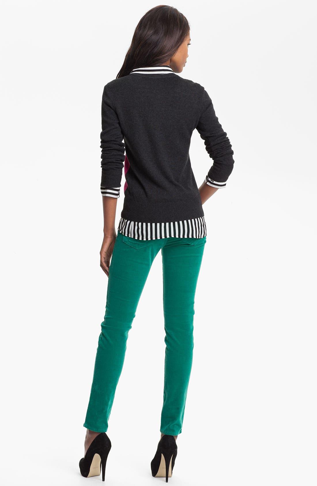 'Diana' Stretch Corduroy Skinny Pants,                             Alternate thumbnail 181, color,