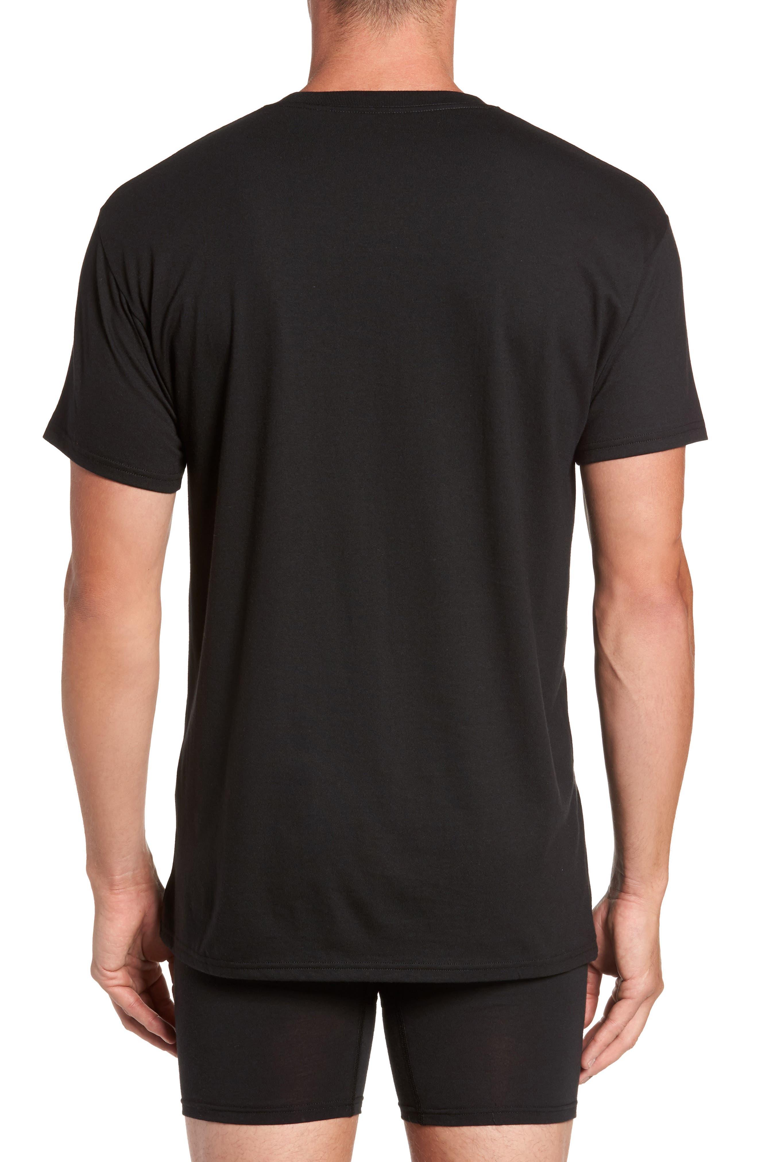 Luxury Essentials 3-Pack Crewneck T-Shirt,                             Alternate thumbnail 2, color,                             001