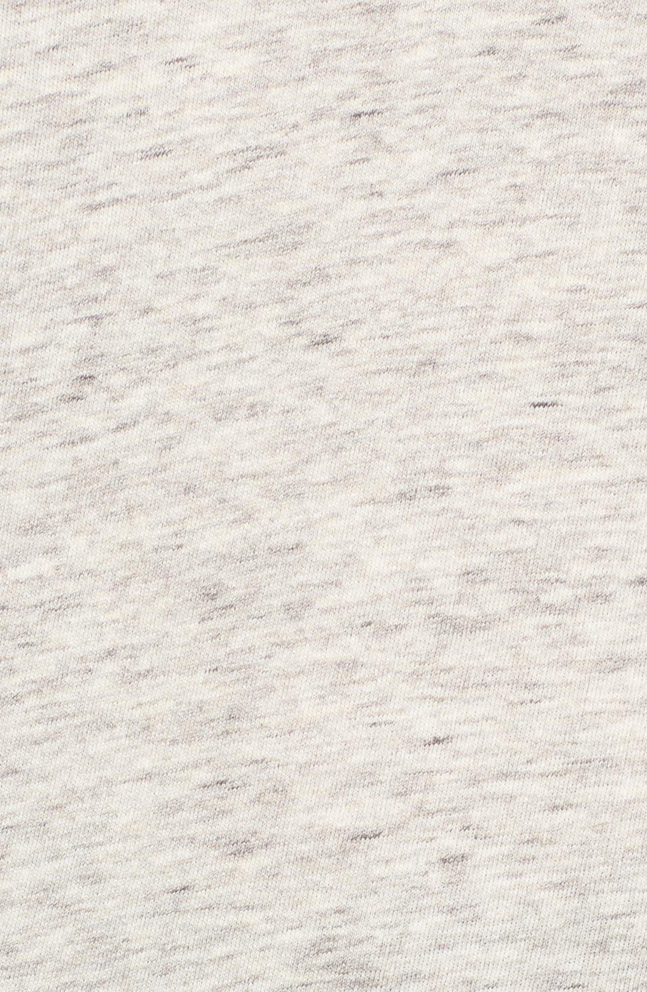 Ruffle Split Sleeve Cotton Sweatshirt,                             Alternate thumbnail 9, color,