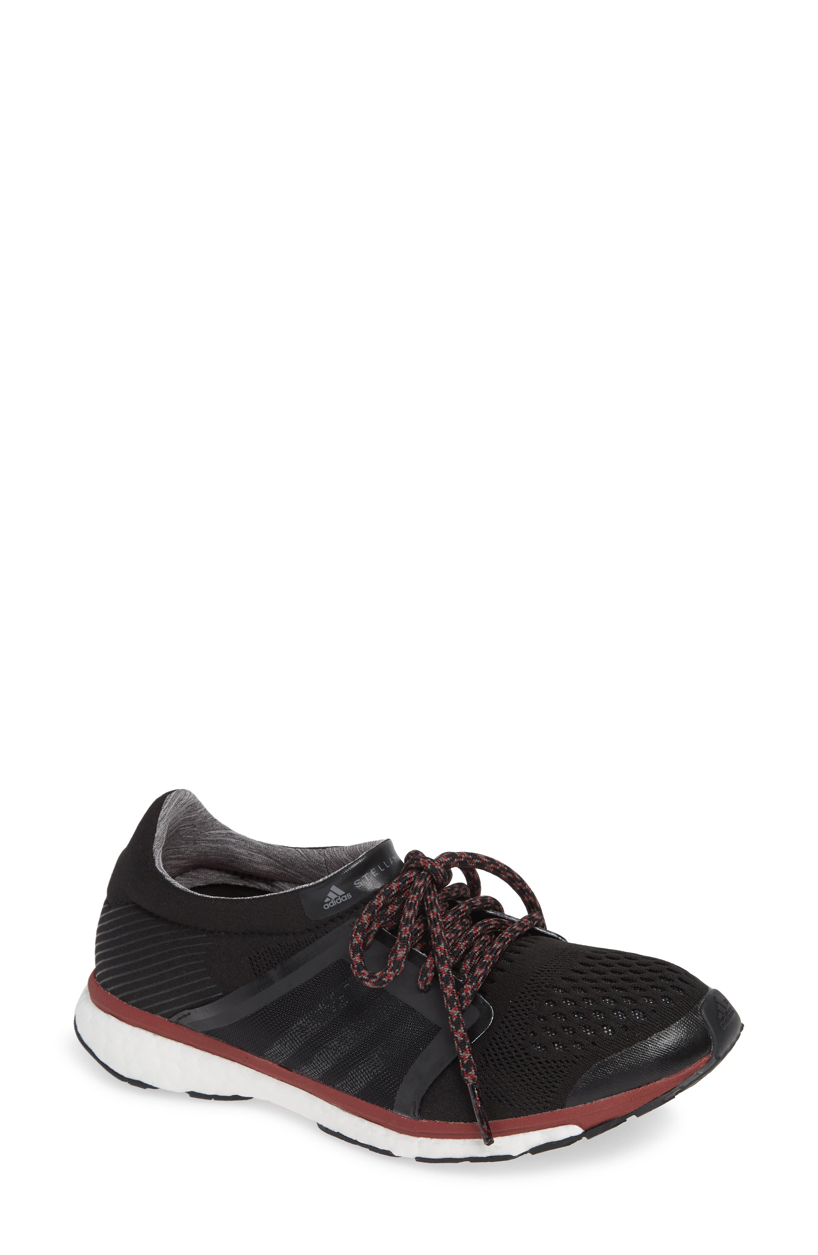 by Stella McCartney Adizero Adios Running Shoe,                         Main,                         color, 001