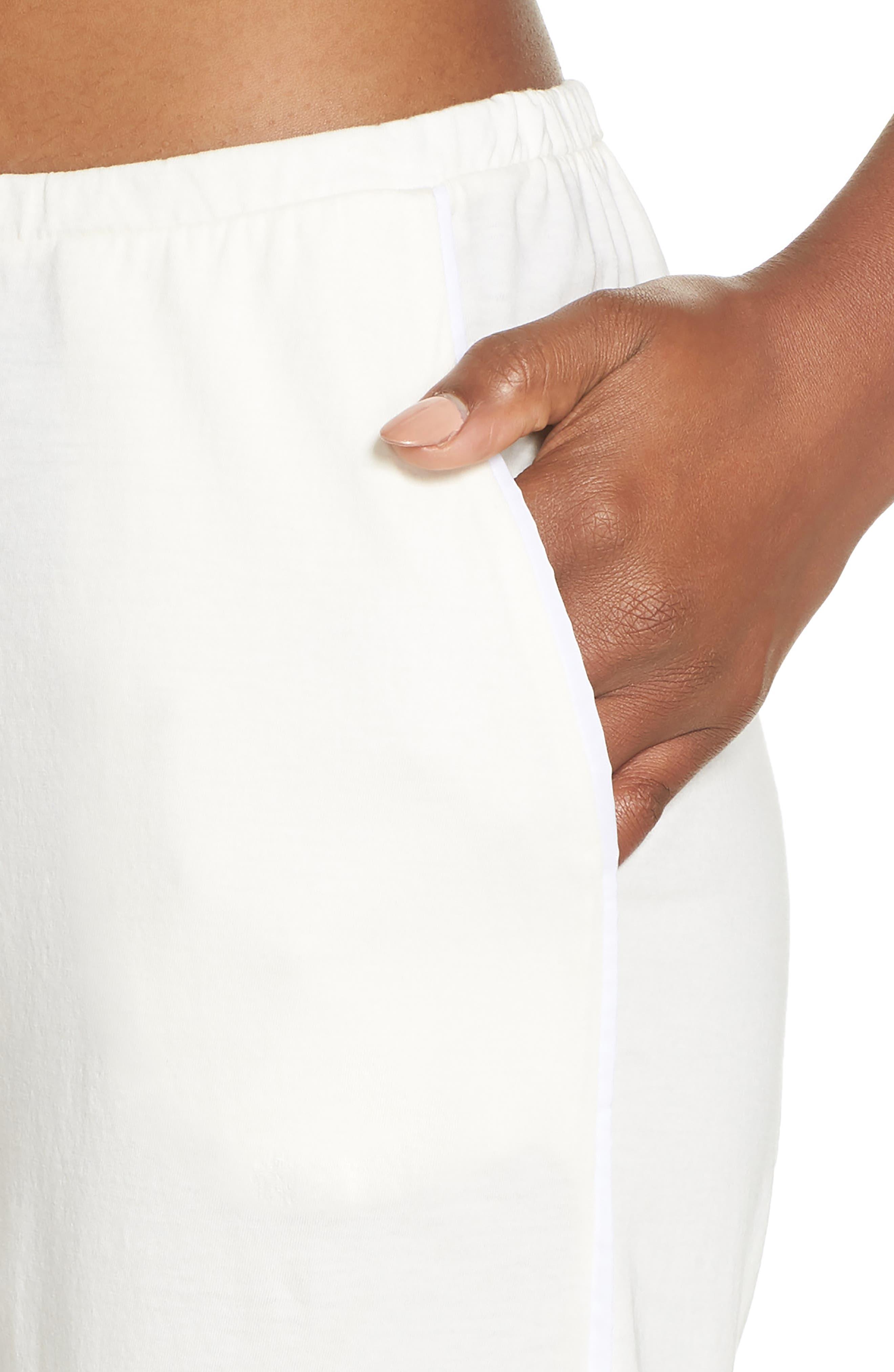 Barrie Pima Cotton Voile Sleep Pants,                             Alternate thumbnail 4, color,