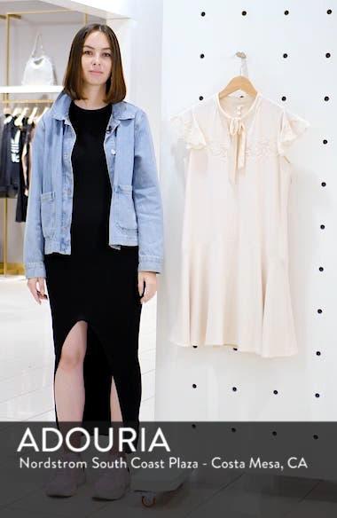 Lace Detail Tie Neck Dress, sales video thumbnail