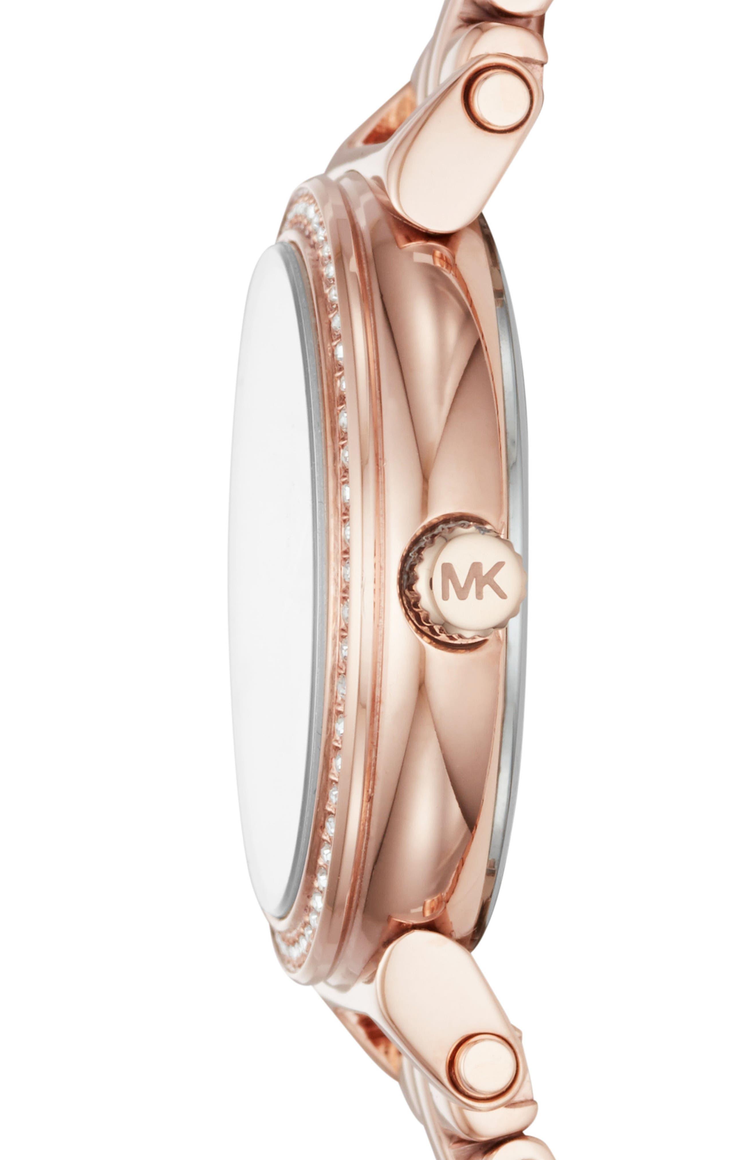 Sofie Bracelet Watch, 26mm,                             Alternate thumbnail 2, color,                             ROSE GOLD/ MOP/ ROSE GOLD