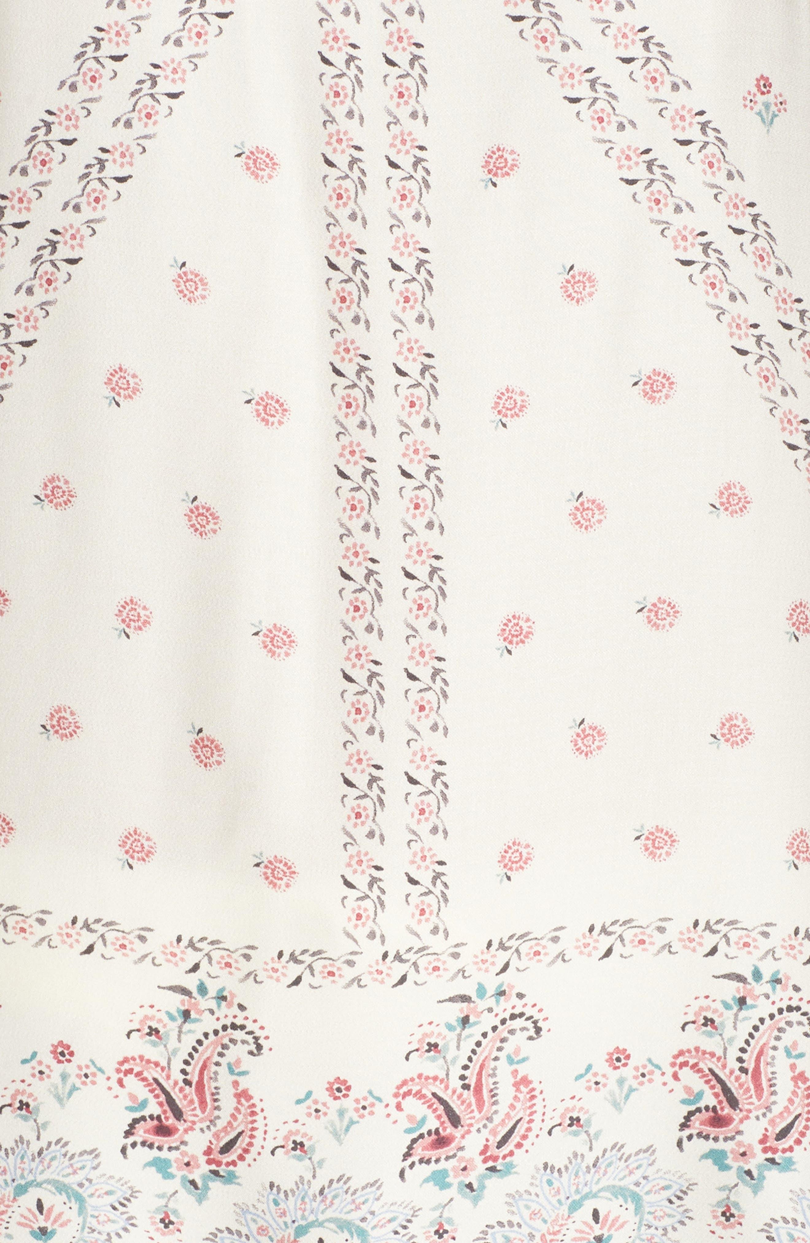 Paisley Park Pajama Camisole,                             Alternate thumbnail 5, color,                             ANTIQUE WHITE