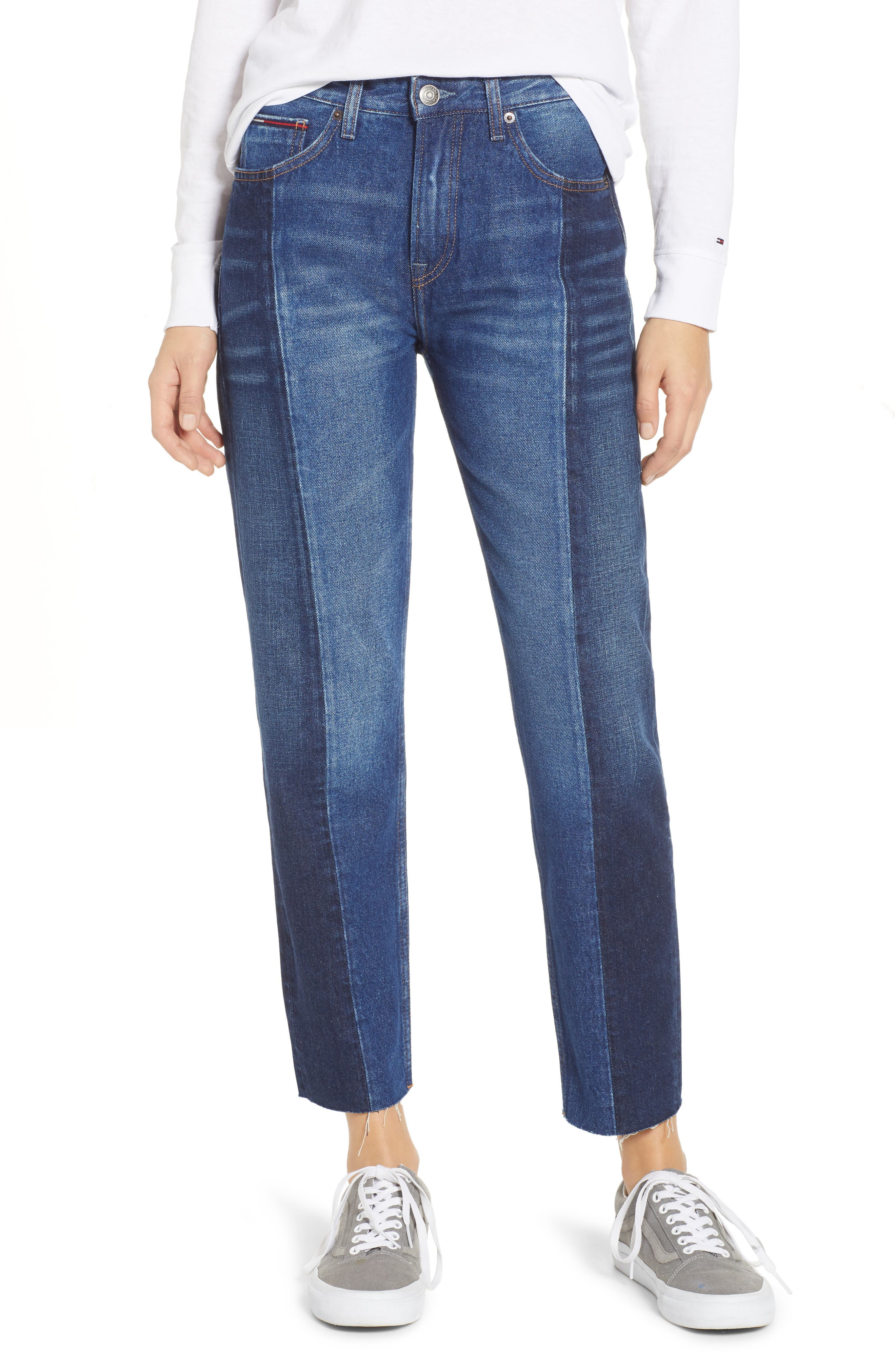 Izzy Paneled Slim Ankle Jeans,                             Main thumbnail 1, color,                             TOMMY JEAN NEW COMBO