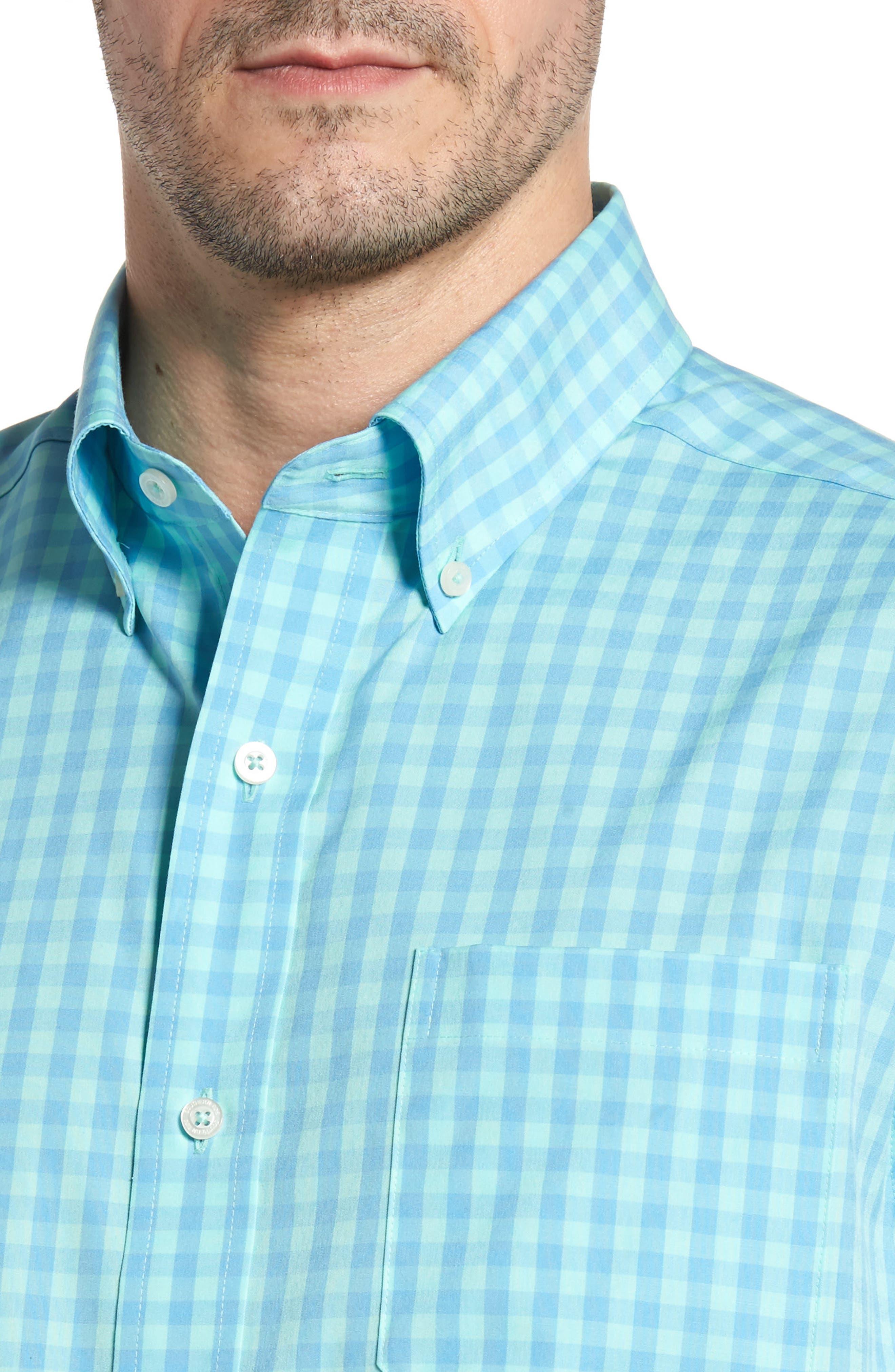 Getaway Gingham Classic Fit Sport Shirt,                             Alternate thumbnail 4, color,                             476
