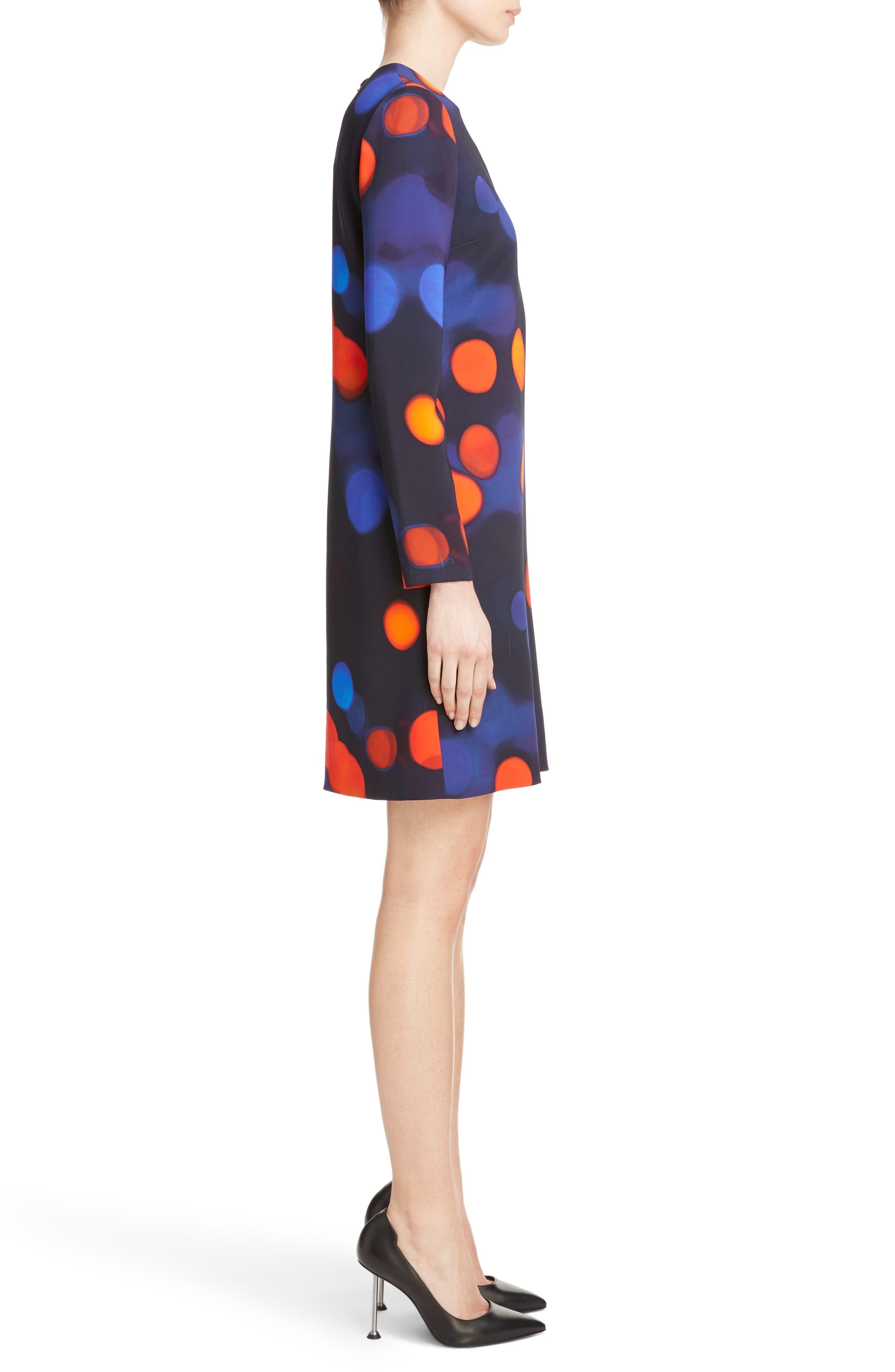 Print Shift Dress,                             Alternate thumbnail 3, color,                             400