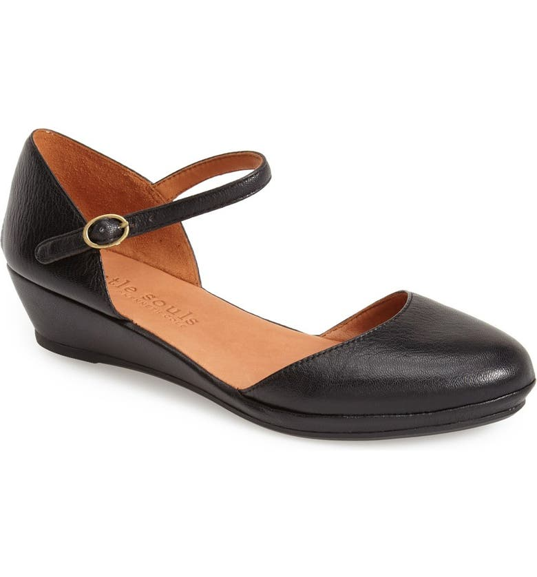 9e172f0337e GENTLE SOULS BY KENNETH COLE Gentle Souls  Noa Star  Leather Quarter Strap  Wedge