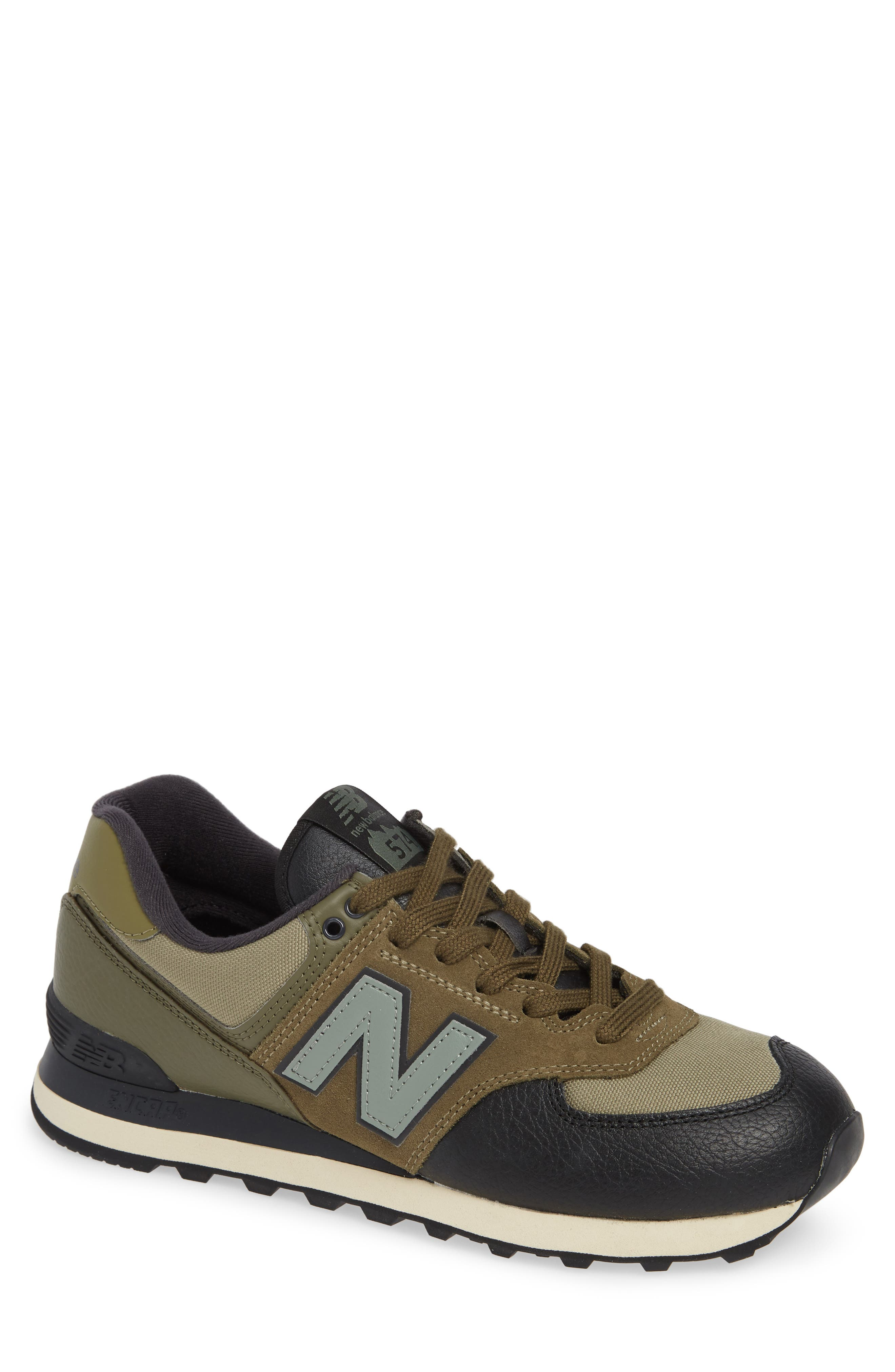 574 Classic Sneaker,                             Main thumbnail 1, color,                             COVERT GREEN SUEDE/ TEXTILE