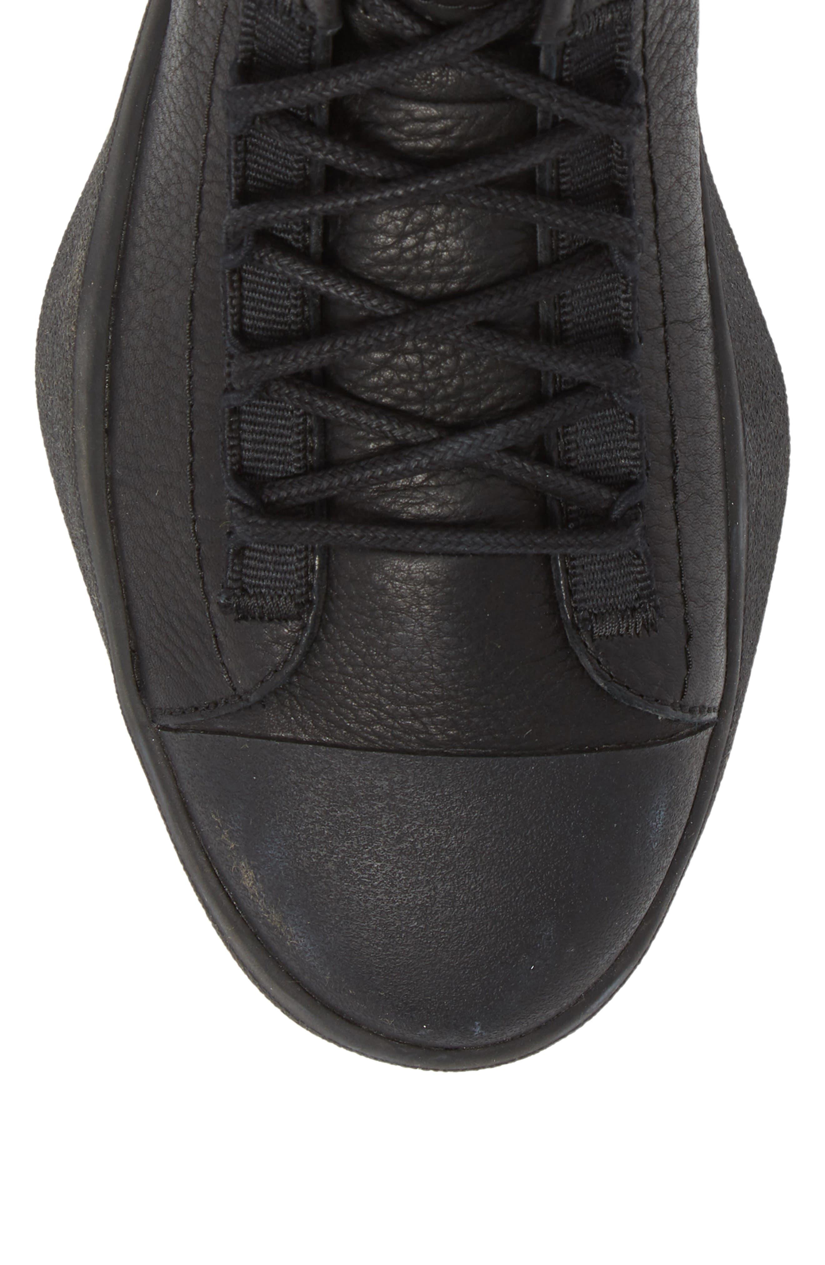 x adidas Bashyo High Top Sneaker,                             Alternate thumbnail 5, color,                             BLACK/BLACK